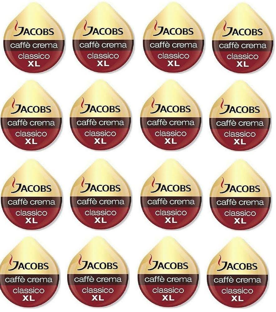 thumbnail 3 - TASSIMO Jacobs Caffe Crema Classico XL Coffee Pod T Disc 8/16/32/48/80/160 Drink