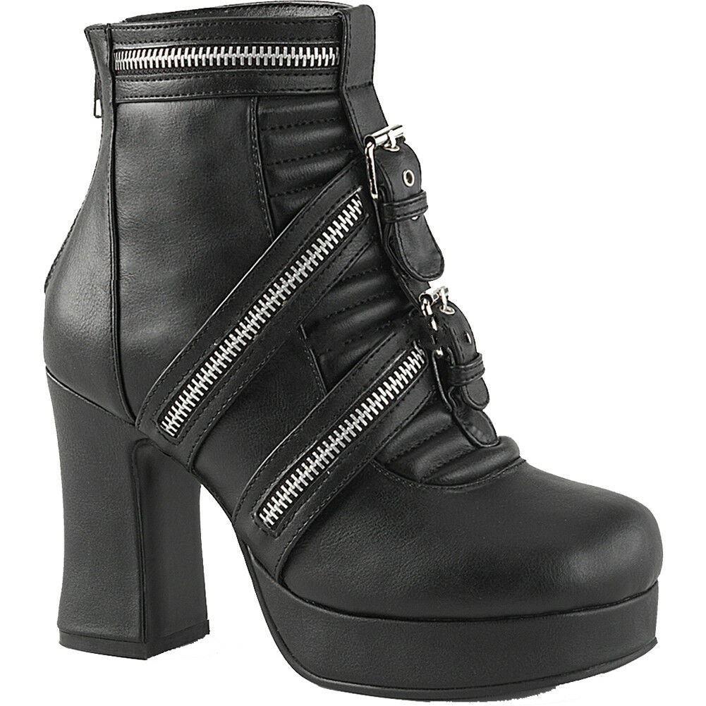 40db9d1967a6 Details about Women s Demonia GOTHIKA-50 Platform Ankle Boot Black Goth Nu  Goth Punk