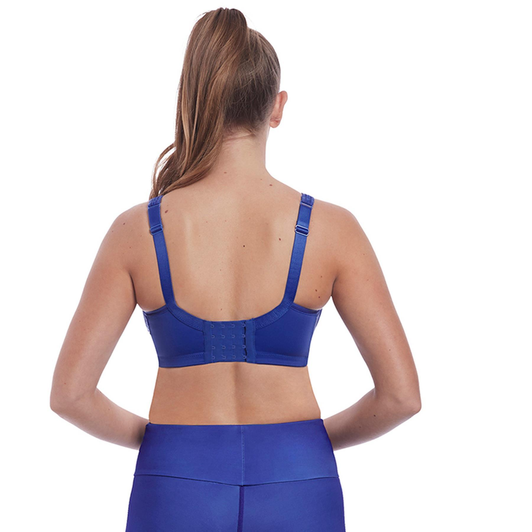 Freya Sports Bra Active Core Size 38FF Ocean Fever Blue Underwired Full Cup 4002