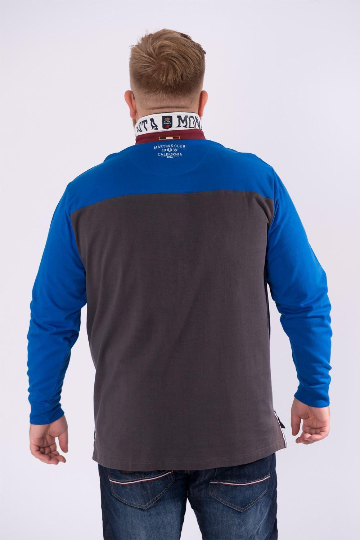 Santa Monica Polo Club Mens Plus Size Rugby Polo Shirt