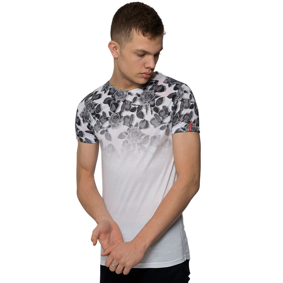 Mens extra tall casual t shirt pattern crew neck tee short for T shirt for tall man