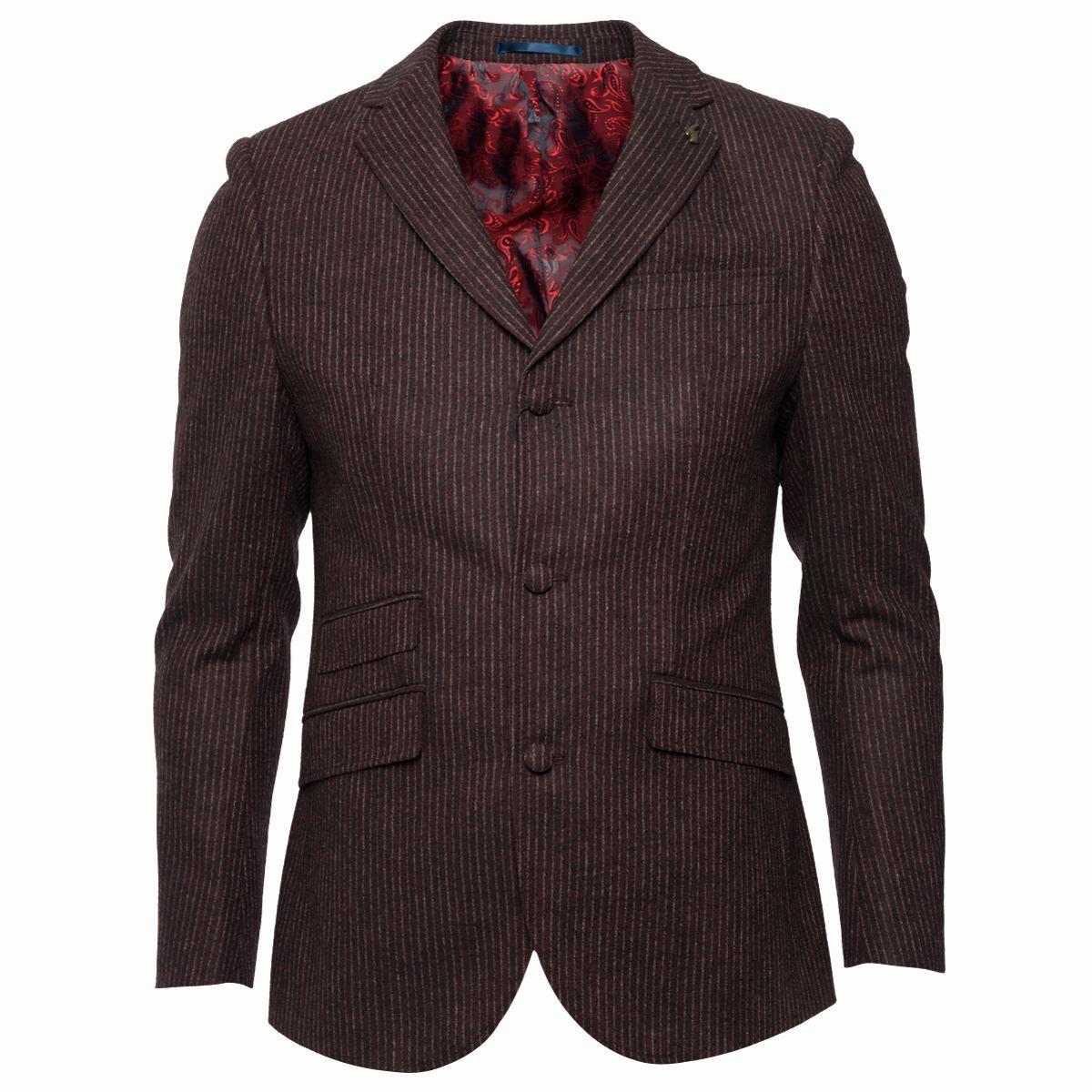 Gabicci-Vintage-RIGATO-da-uomo-giacca-SU-MISURA-CON-BOTTONI-Giacca-elegante