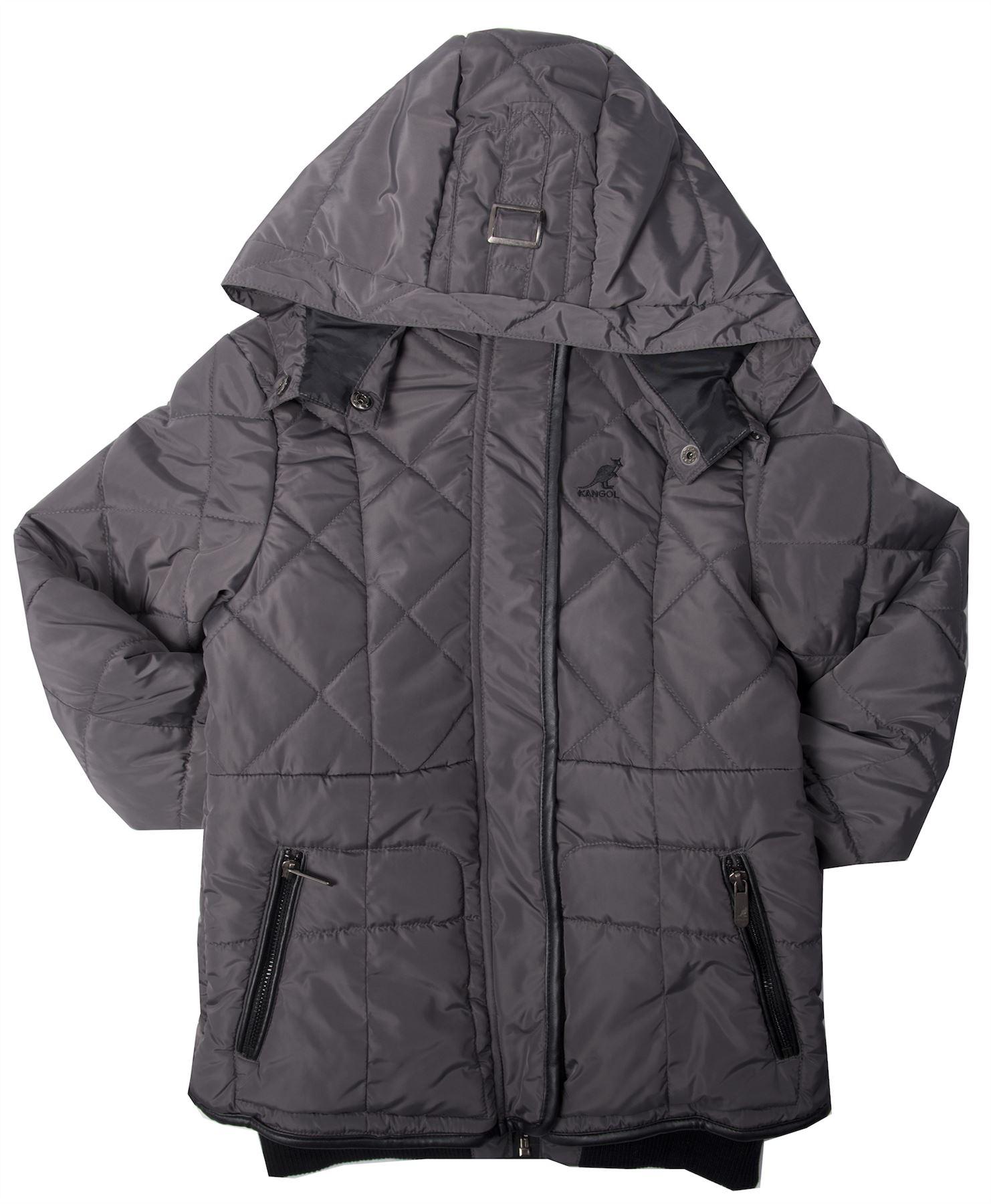 kangol fille hiver veste matelass e capuche fermeture clair manteau ans 4 10 ebay. Black Bedroom Furniture Sets. Home Design Ideas