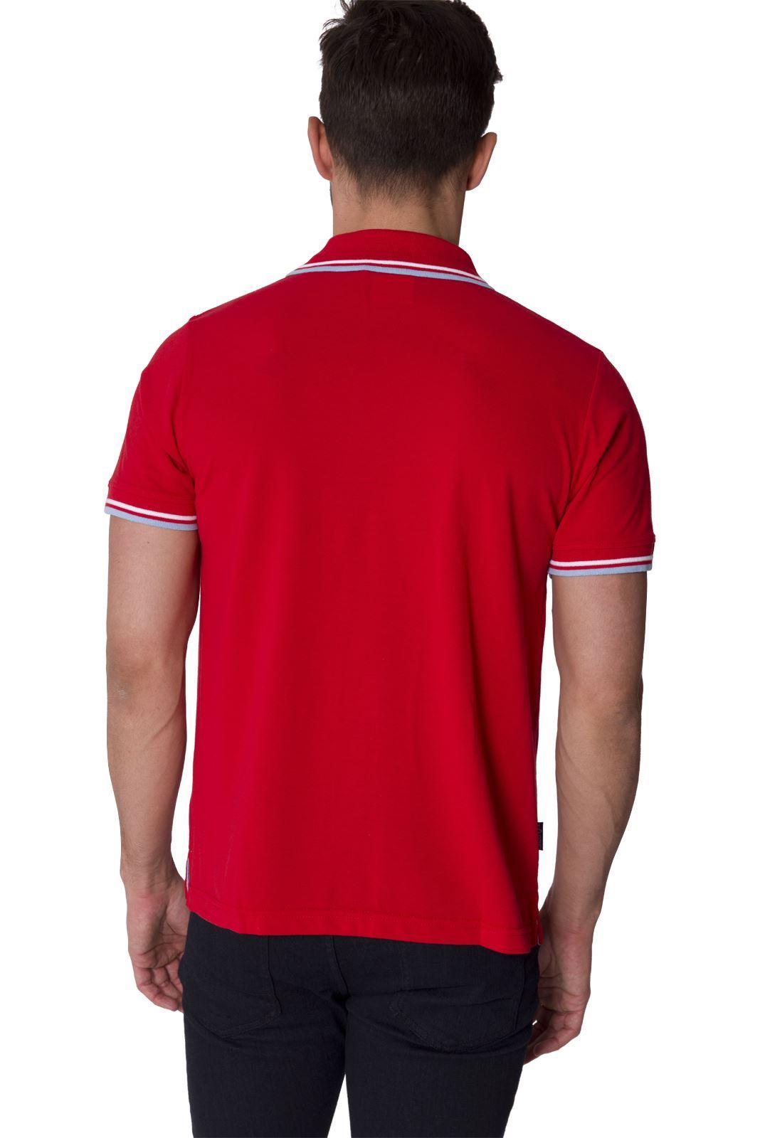 Slazenger designer new mens short sleeve collared polo tee for Mens designer t shirts uk