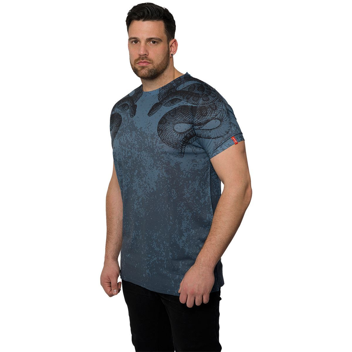 Juice king plus size mens short sleeve t shirt crew neck for Mens crew neck tee shirts