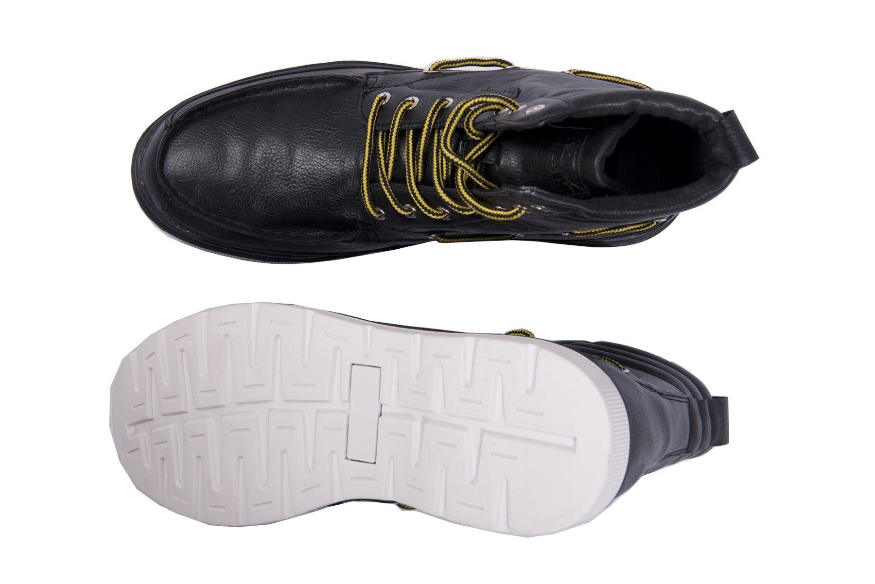 Rock & Religion para hombre Casual Calzado De Combate Tobillo Botas Con Cordones De Cuero High Top