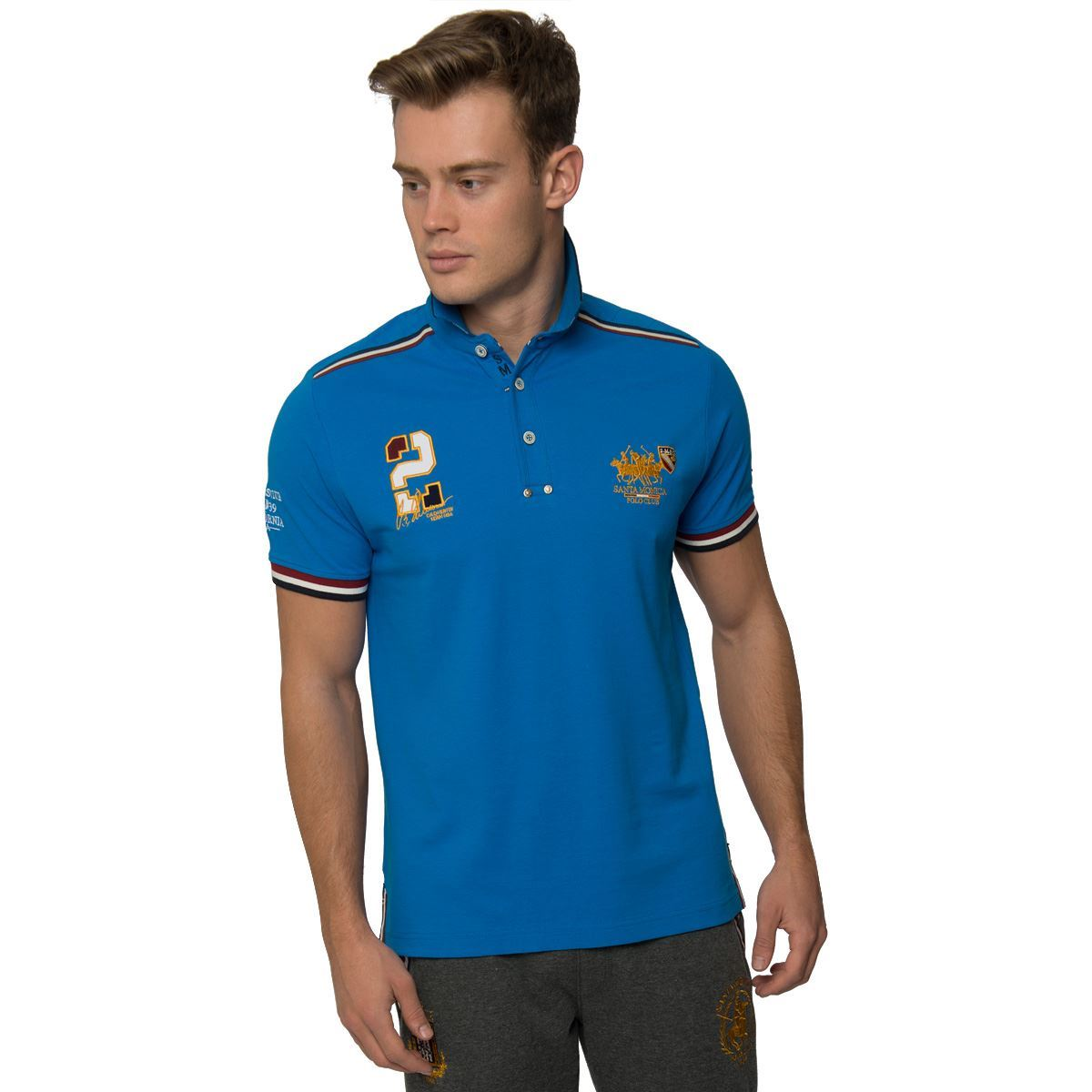 New Mens Casual Polo Shirt Button Up Short Sleeve Top