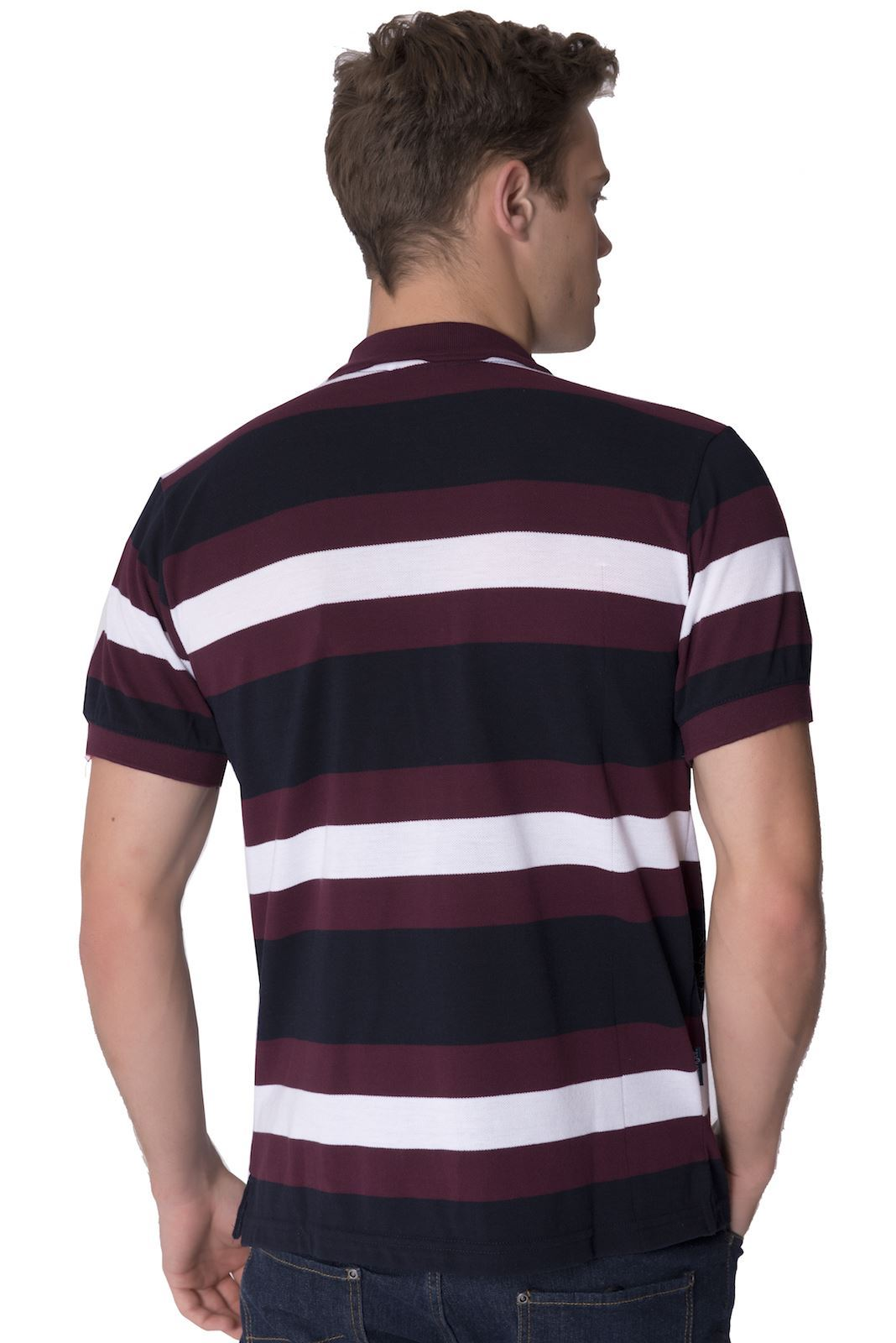 Slazenger mens striped branded polo shirt short sleeved for Branded polo t shirts