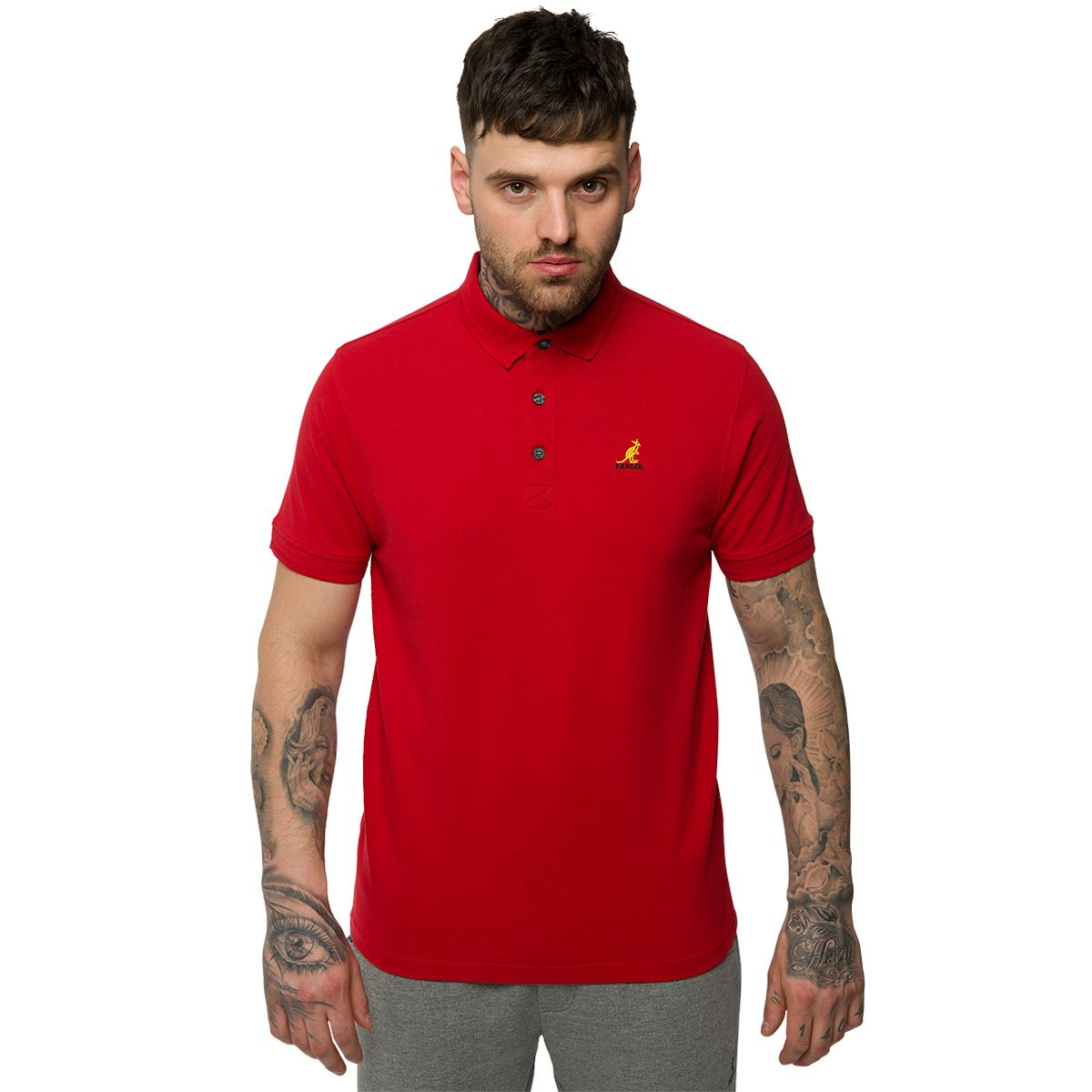 Kangol mens classic polo shirt plain top designer branded for Branded polo t shirts