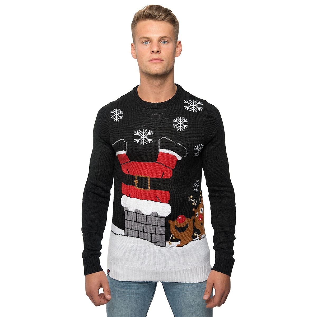 Loyalty-amp-Faith-Mens-Novelty-Christmas-Jumpers-Knitted-Top-3D-Xmas-Gift-Sweater