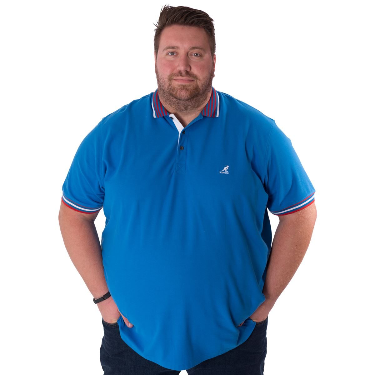Kangol Mens King Plus Size Polo Shirt Short Sleeve Casual