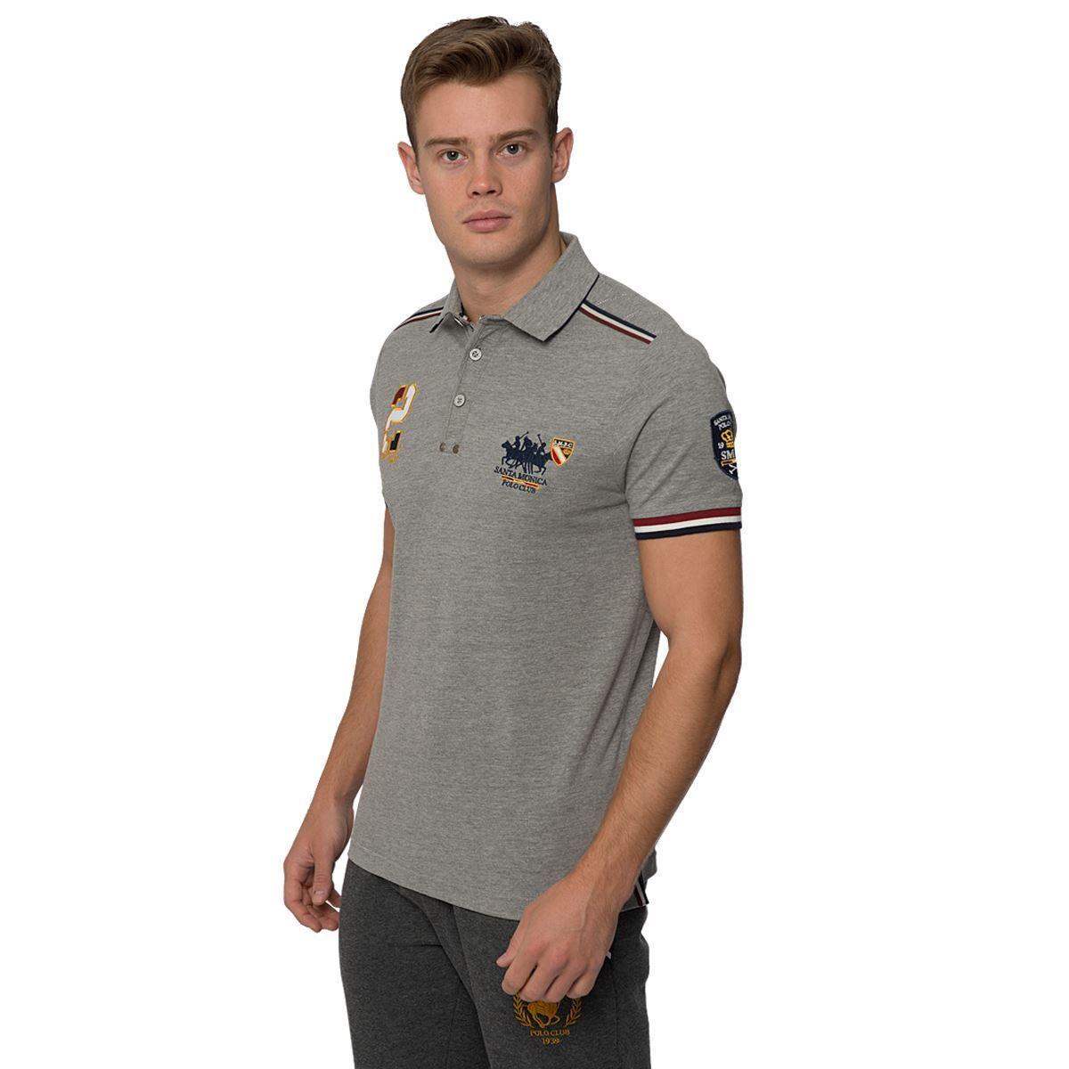 mens casual polo shirt button up short sleeve top santa