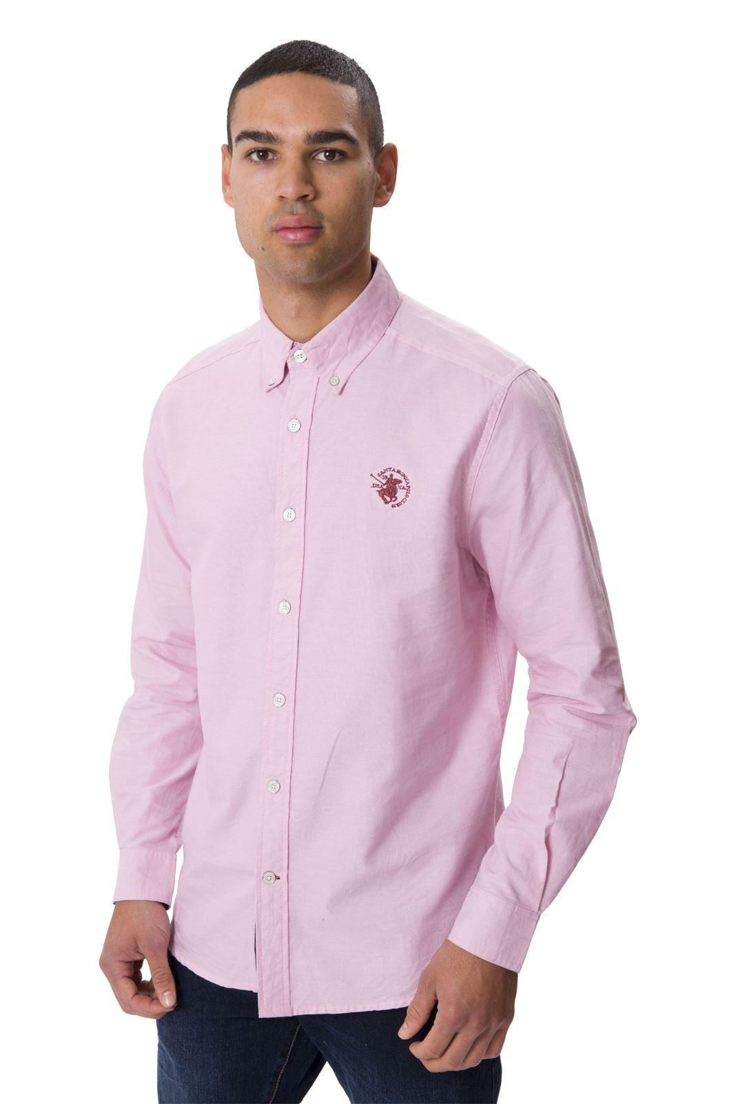Santa monica polo club mens long sleeve plus size oxford for Plus size men shirts