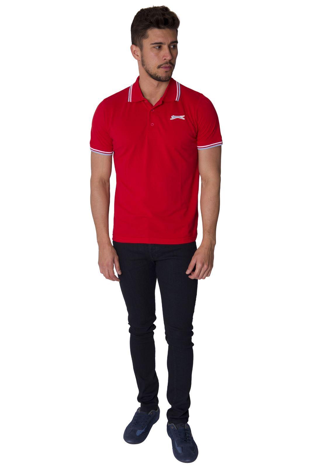 Slazenger Designer New Mens Short Sleeve Collared Polo Tee