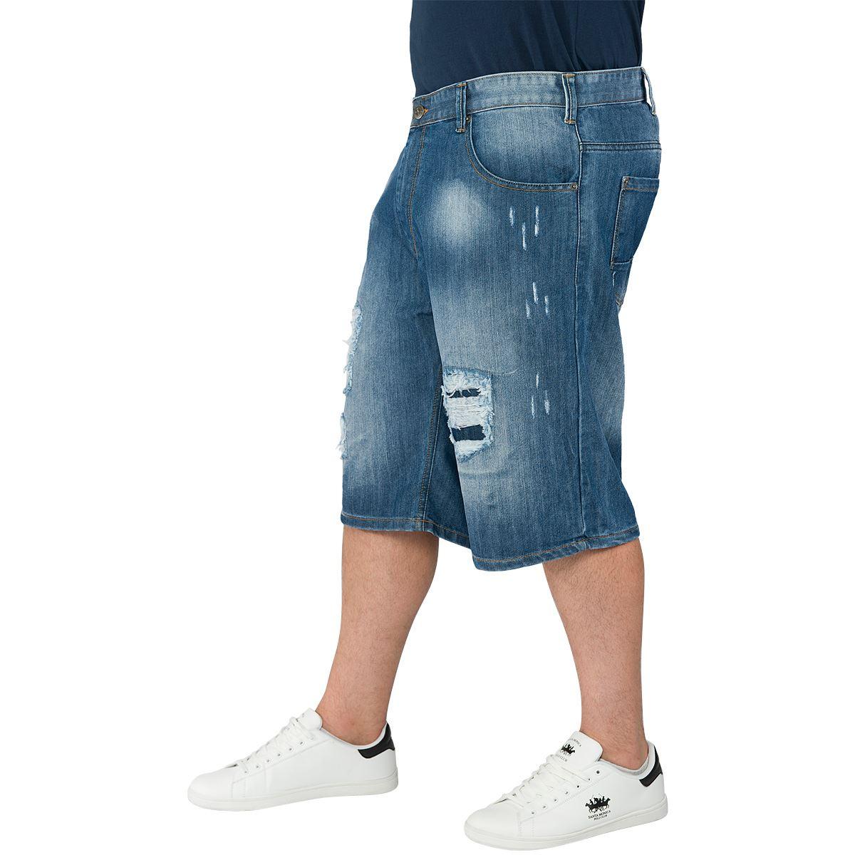 Loyalty & Faith Mens Plus King Size Denim Shorts ...