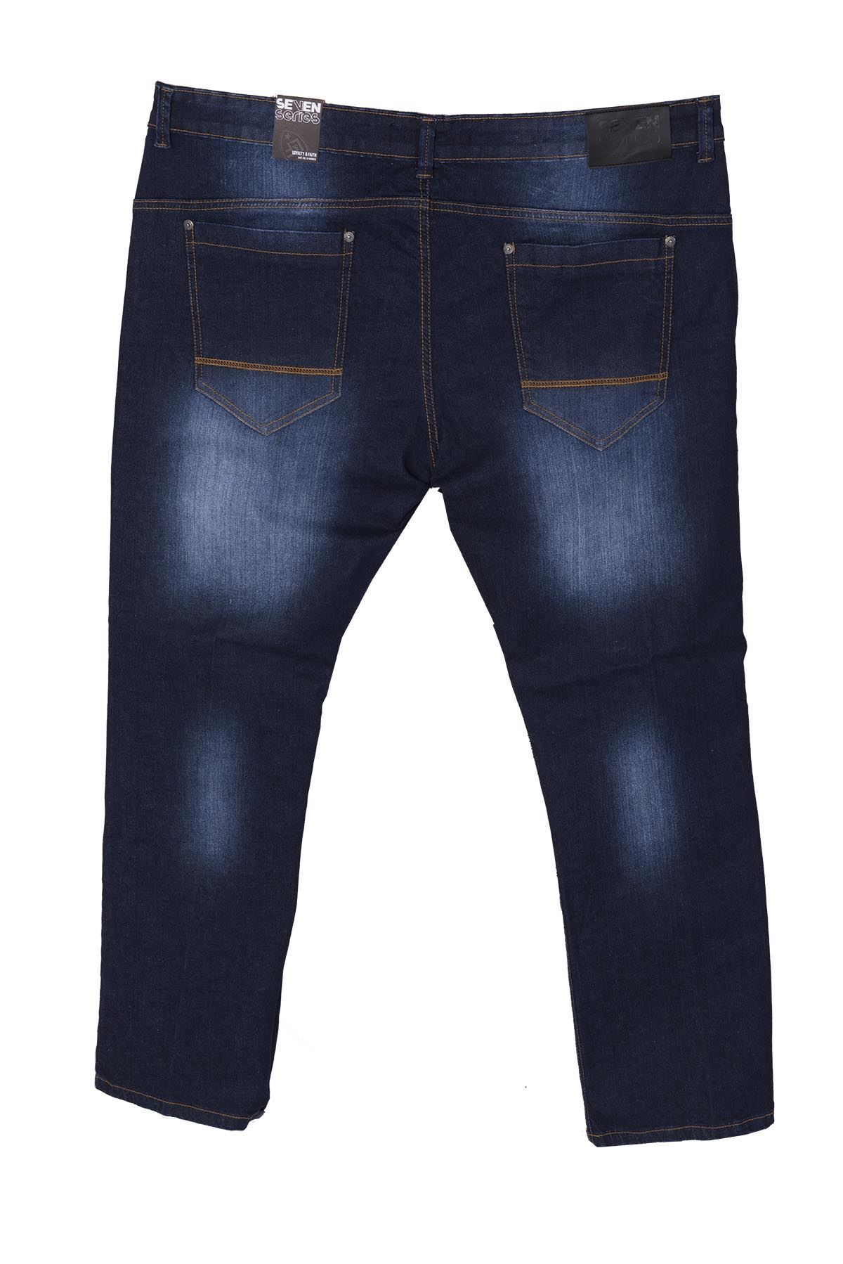 Big Mens Plus Size Stretch Jeans Zip Fly Light Dark Wash ... - photo#49