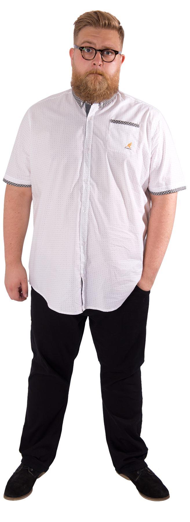 Kangol mens plus size short sleeve shirt button down for Best short sleeve button down shirts reddit