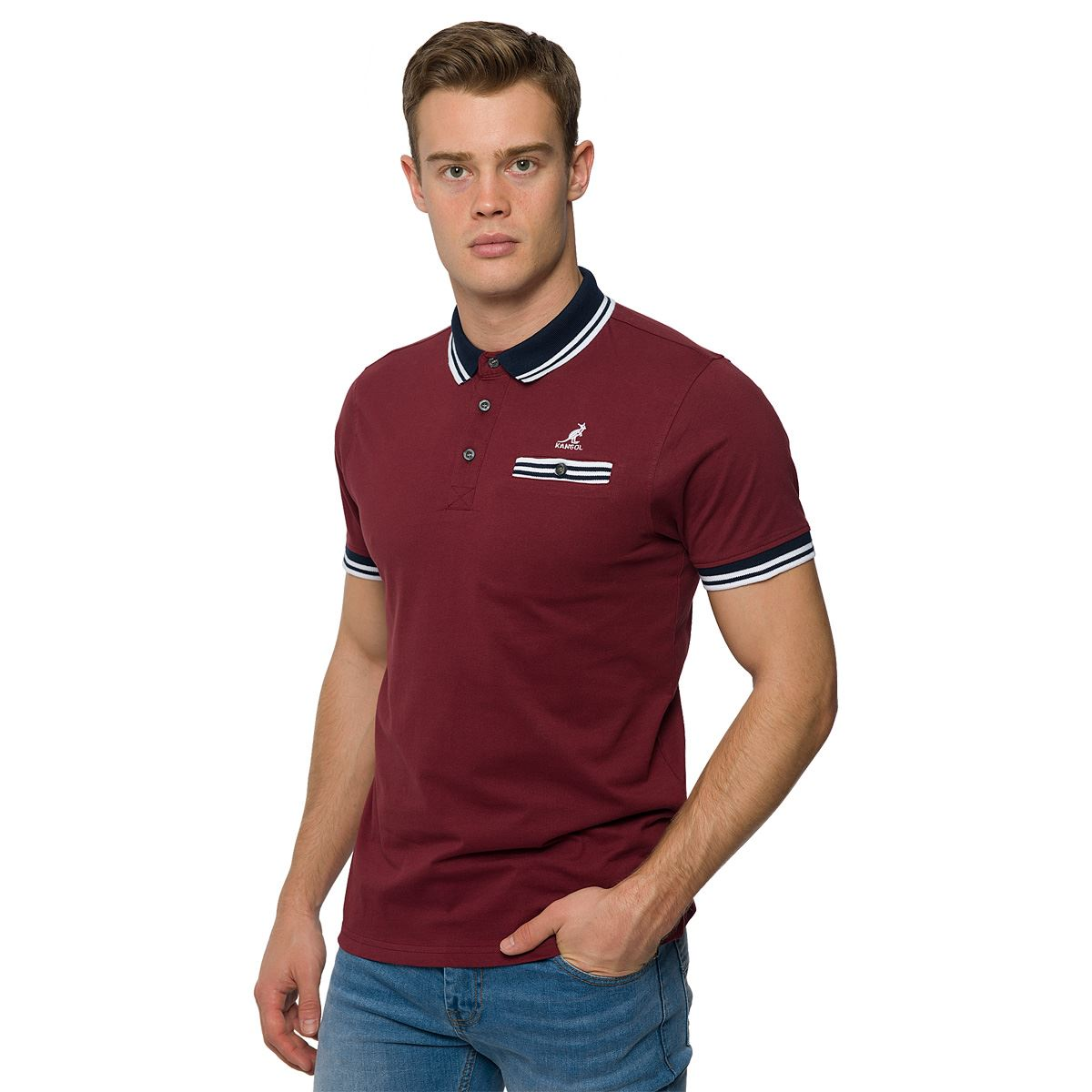 Kangol mens plain classic polo shirt collared tee cotton for Xxl mens polo shirts