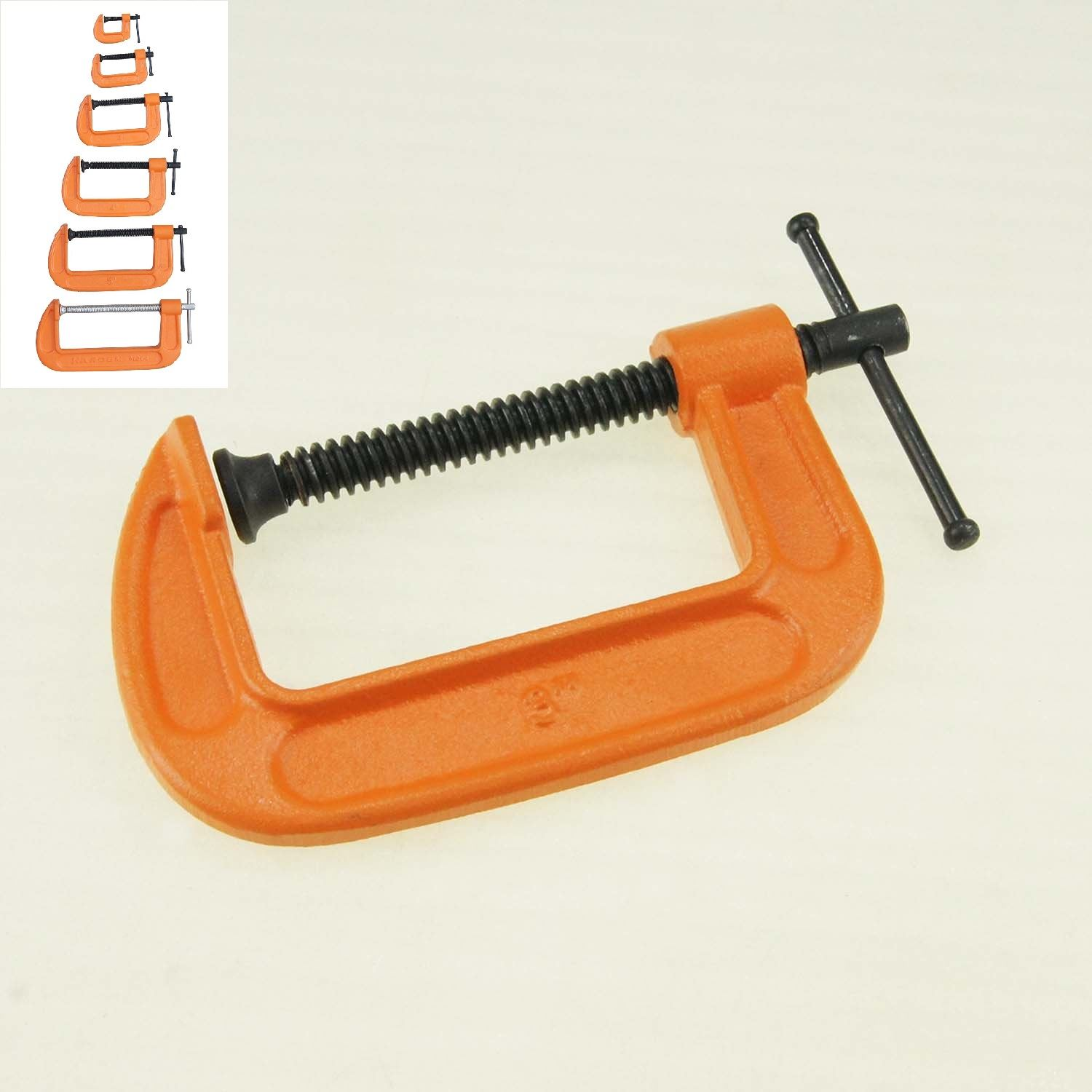 313386 Heavy Duty Vice C Clamp For Wood Steel Carpenter Tools 1 To