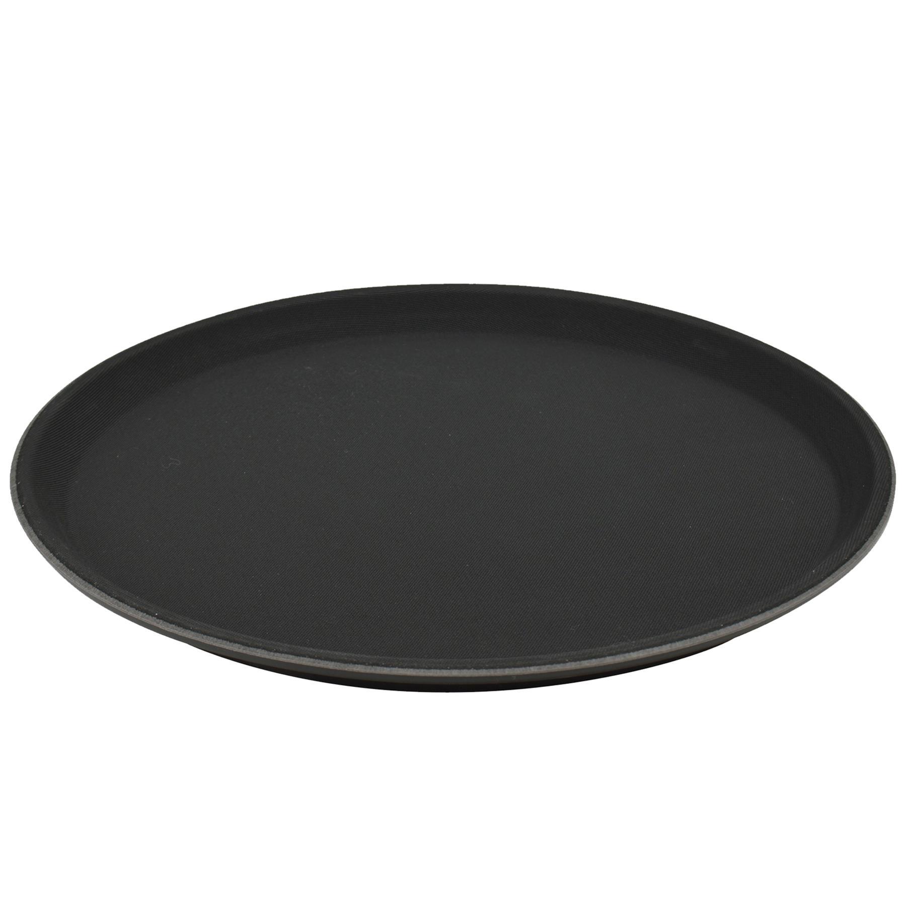 Non-Slip Round Tray Bar Pub Café Waiter Serving Dinner Drinks Food Platter