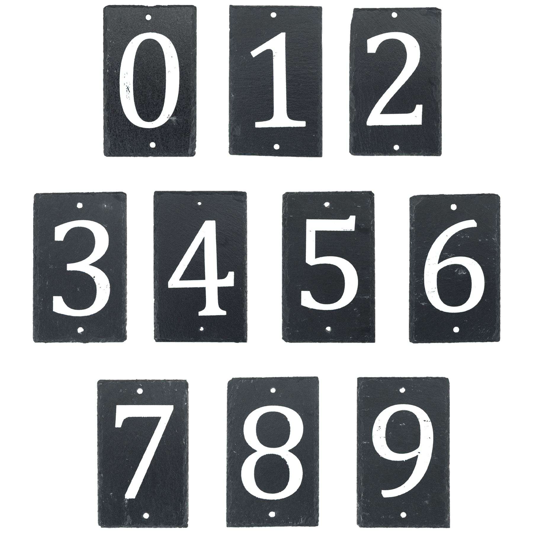 b9c30837abed Slate House Numbers Door Gate Number Plaque Sign Including Fixings ...