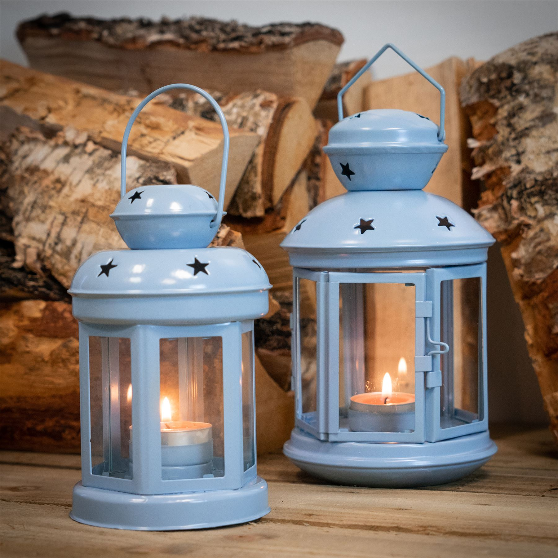 Metal-Candle-Lanterns-Tealight-Holders-Vintage-French-Moroccan-Style-20cm-x2 thumbnail 8