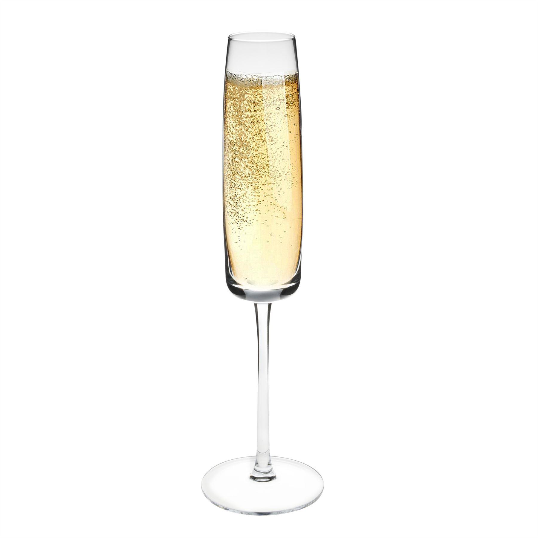 estilo champagne flute crystal drinking glasses box of 6. Black Bedroom Furniture Sets. Home Design Ideas