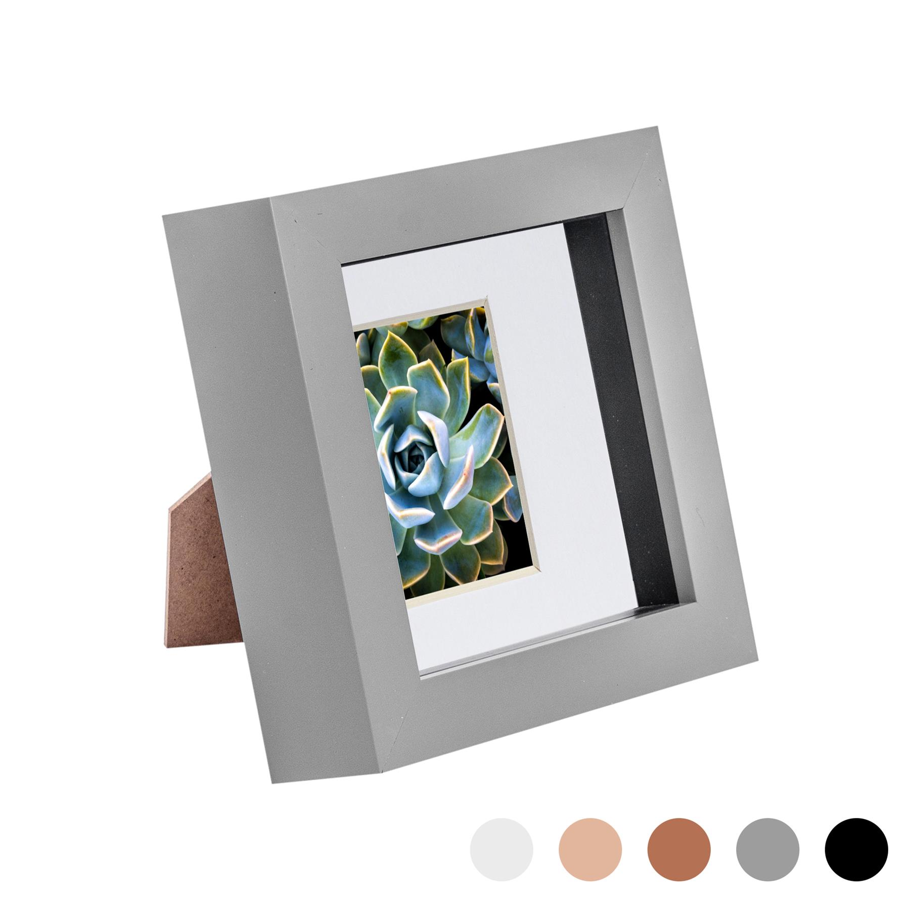 miniature 16 - 4 x 4 3D Box Frame Photo Picture Deep Display Shadow with 2 x 2 Mount