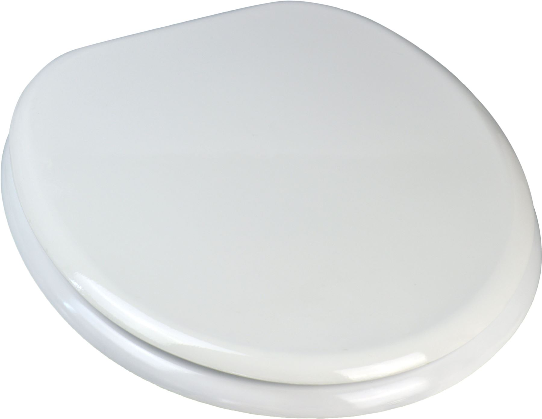 White Wooden Bathroom Toilet Seat Chrome Plated Hinges Fixings Included EBay