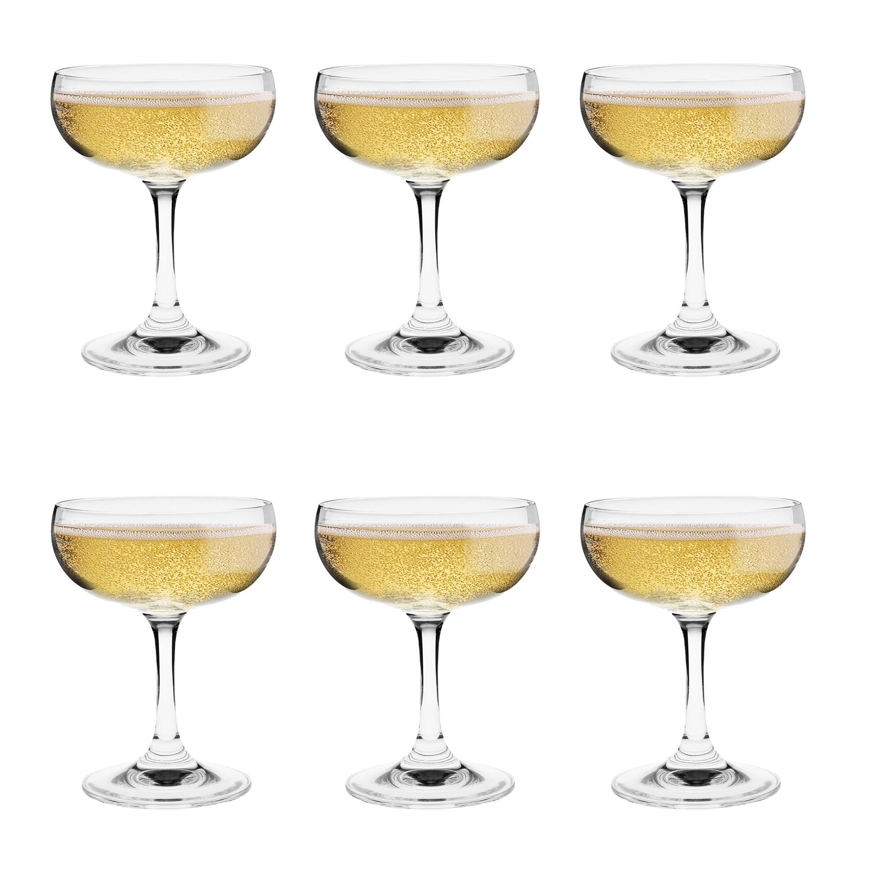 crystal champagne coupe saucers cocktail glasses gift boxed x6 180ml 5055415187292 ebay. Black Bedroom Furniture Sets. Home Design Ideas