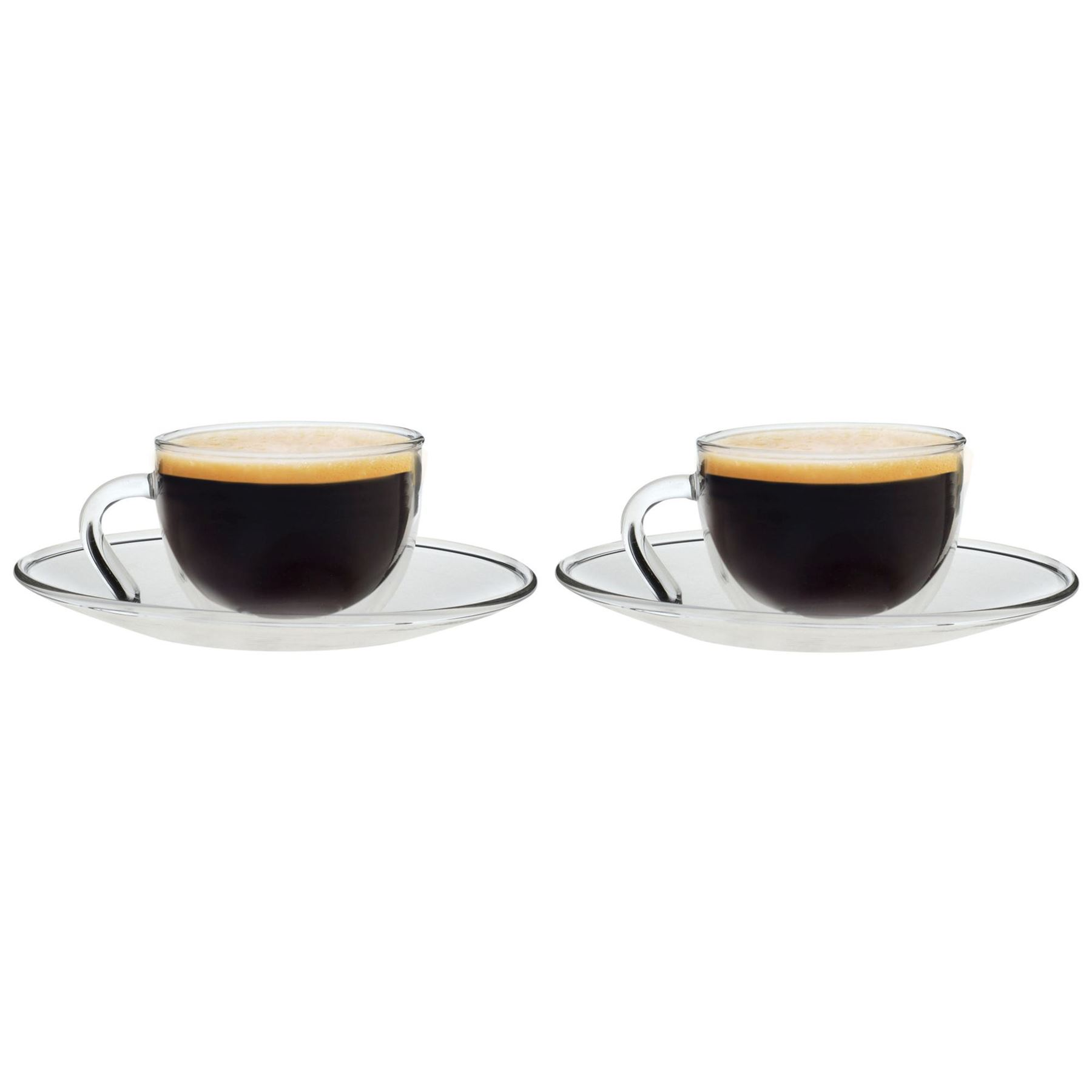 Espresso Coffee Cups ~ Clear glass espresso coffee cups saucers ml pack of