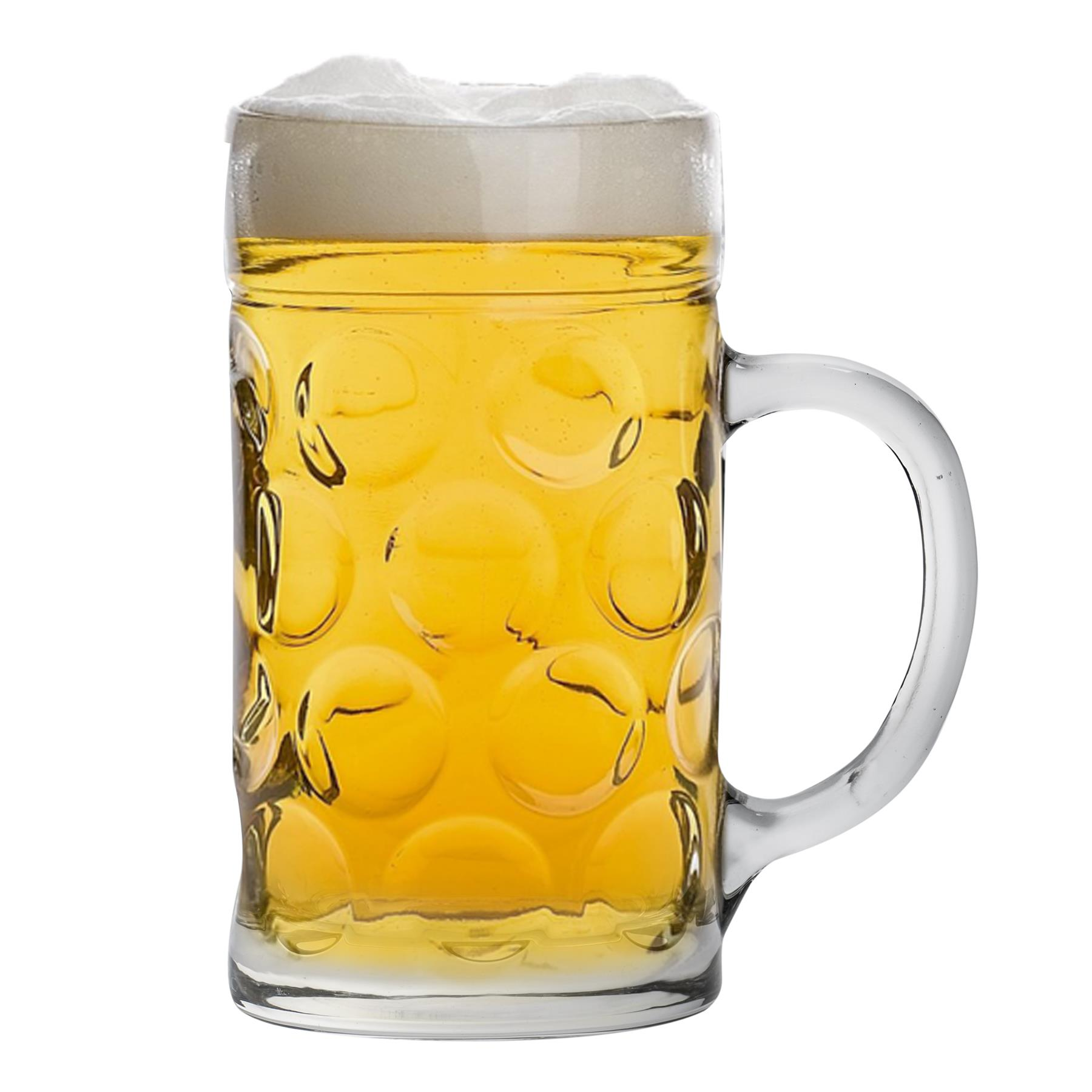Glass German Beer Tankard Stein Beer Dimple Glass Gift Boxed 2 Pints 5055415199608 Ebay
