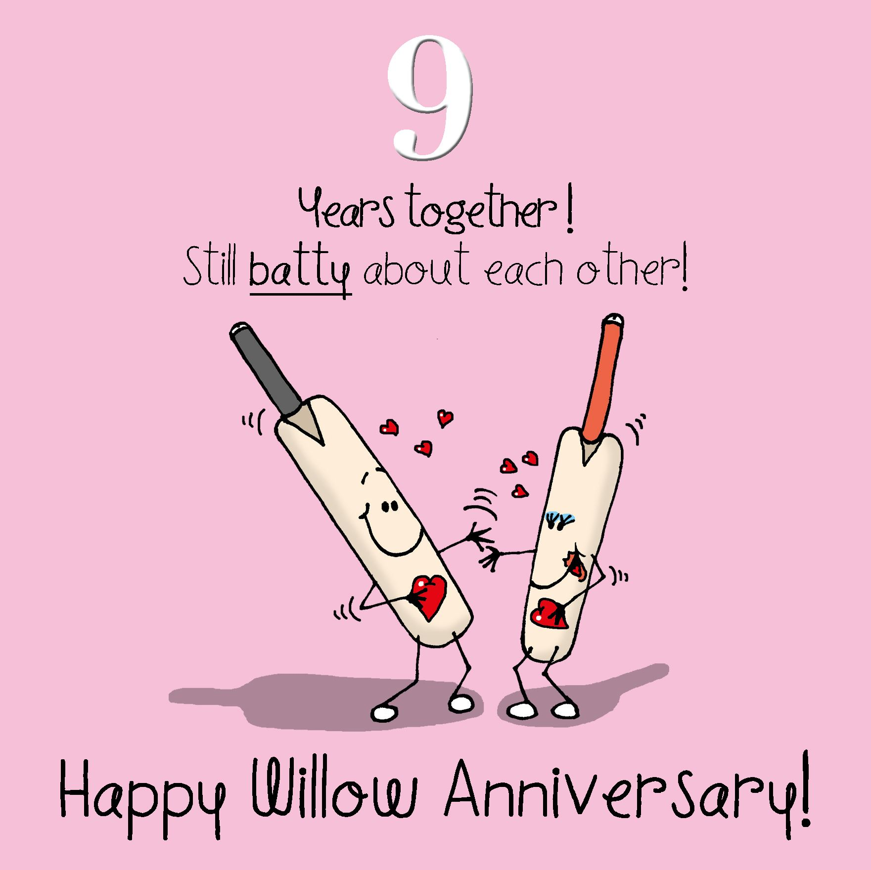 9th Anniversary Greetings Card Happy Willow Anniversary Ebay
