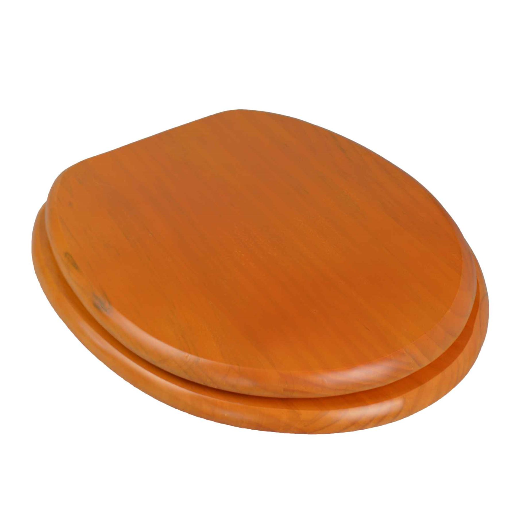 Wooden Bathroom Toilet Seat. Dark Pine Colour. Fixings Included