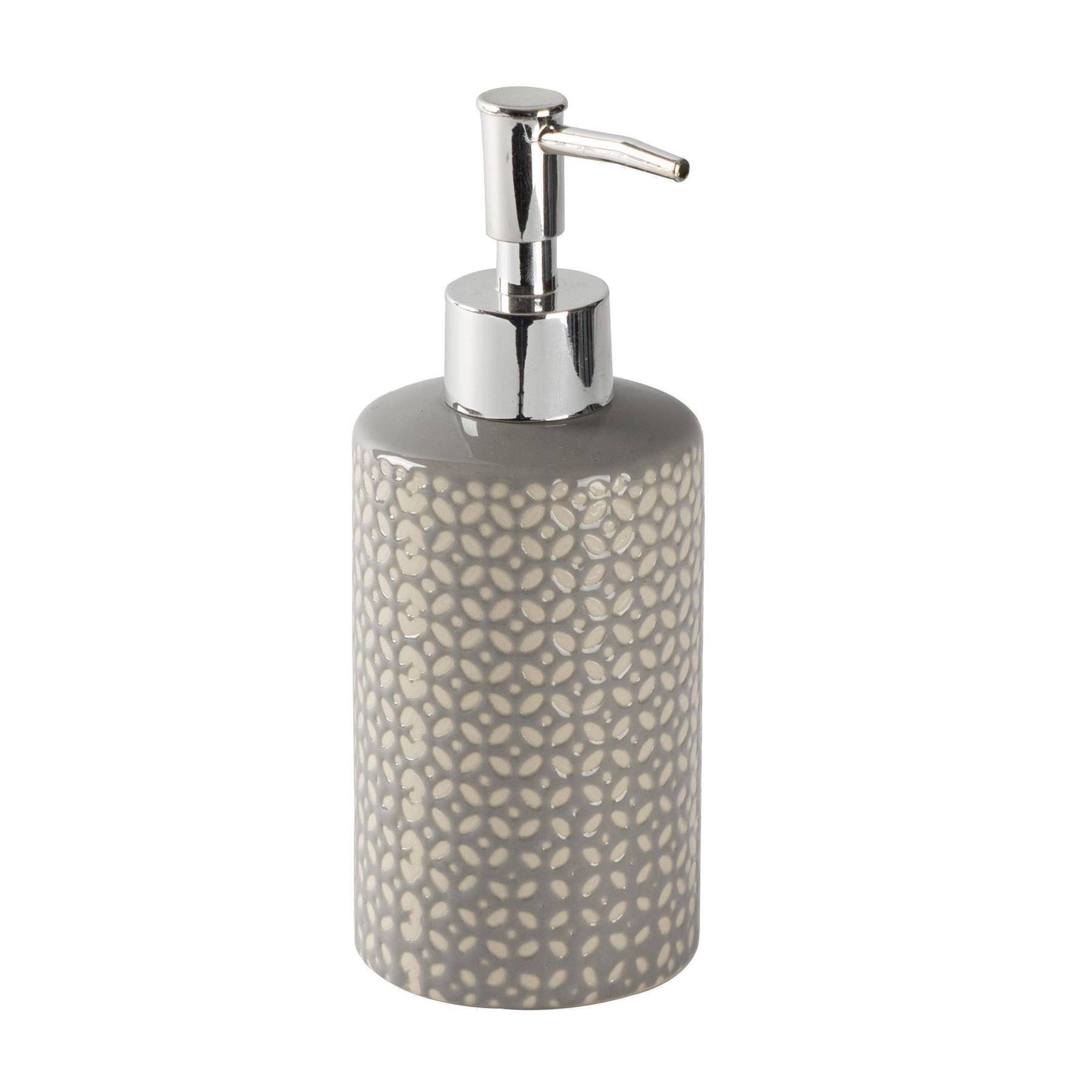 Picture of: Liquid Soap Dispenser Kitchen Bathroom Pump Bottle Ceramic Grey Ebay