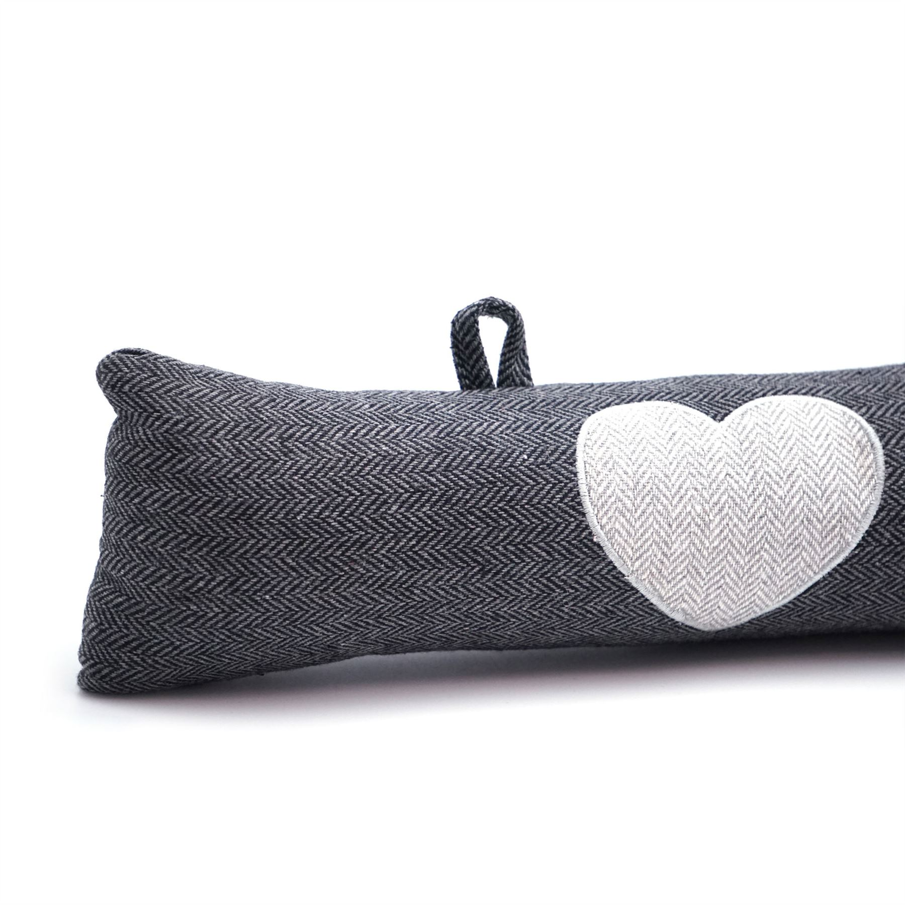 Heart Pattern Door Draught Excluder With Hanging Hooks ...