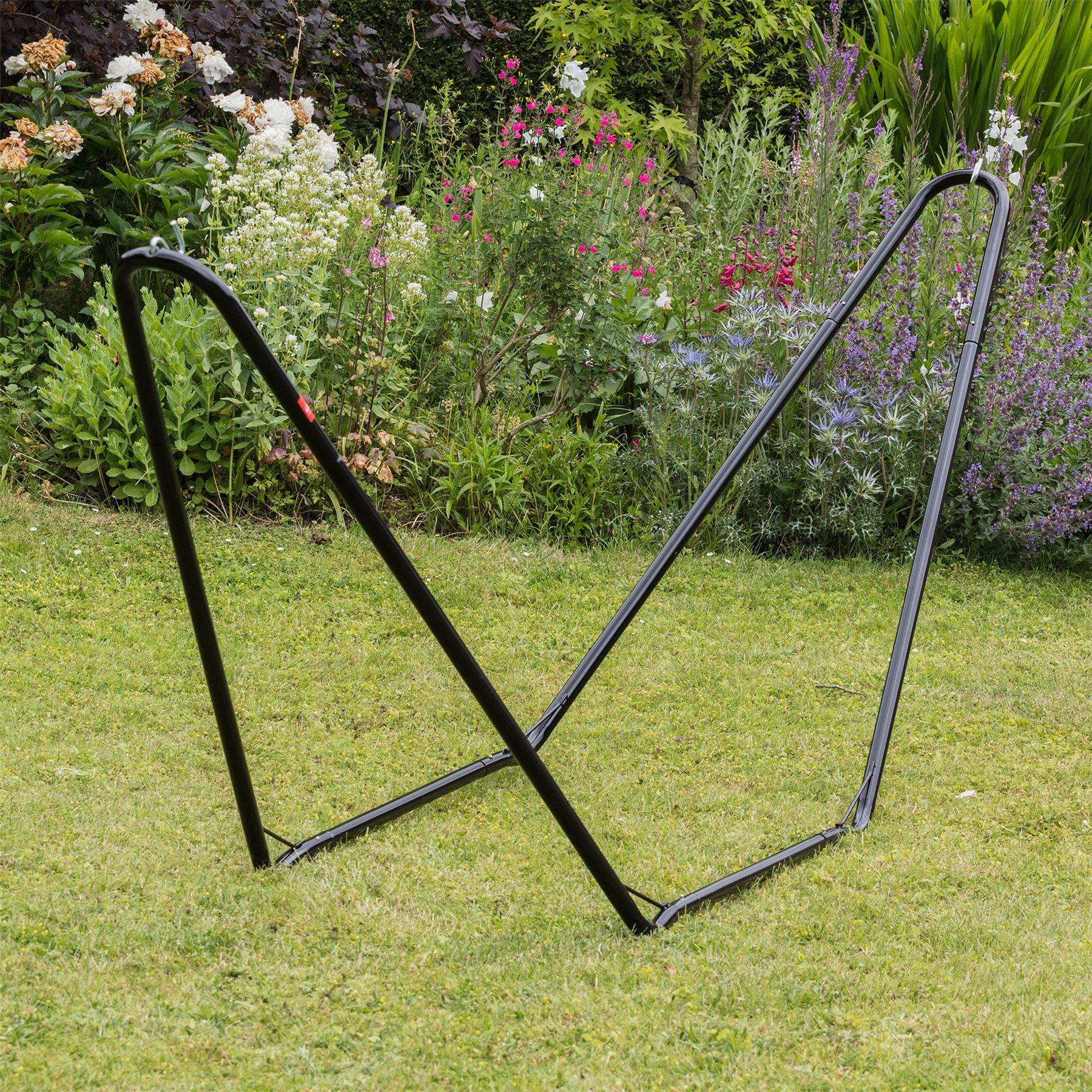 Garden Hammock Stand: Metal Hammock Stand Frame, Large Garden Camping Outdoor