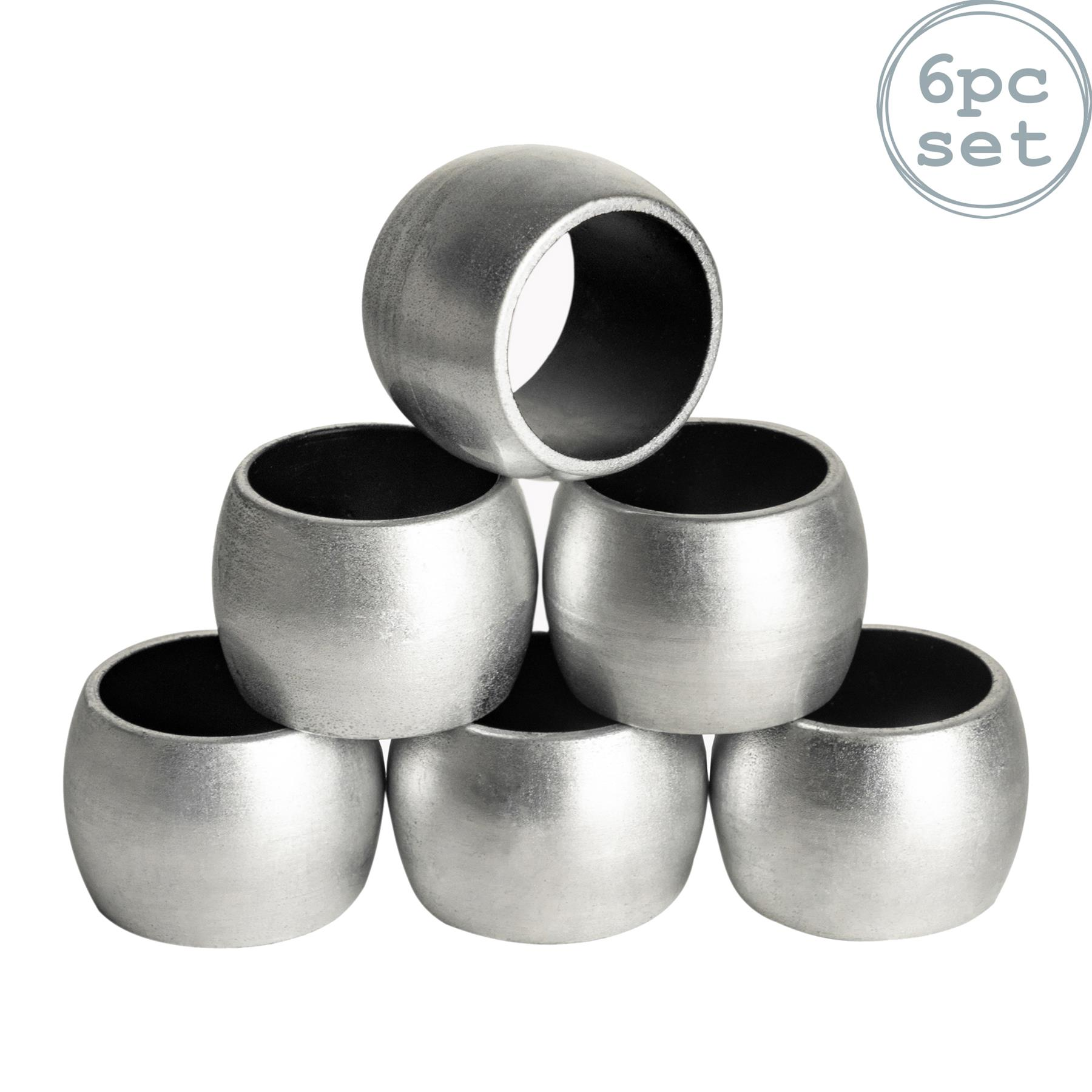Silver Napkin Rings Round Serviette Holder Wedding Christmas Dinner Decor X6 5055512094905 Ebay