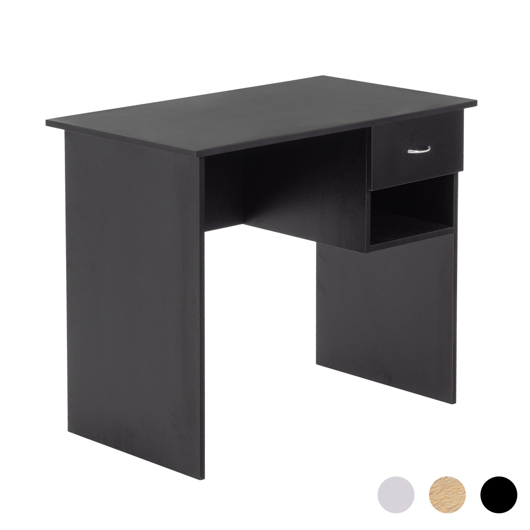 Schreibtisch Schwarz Holz 2021