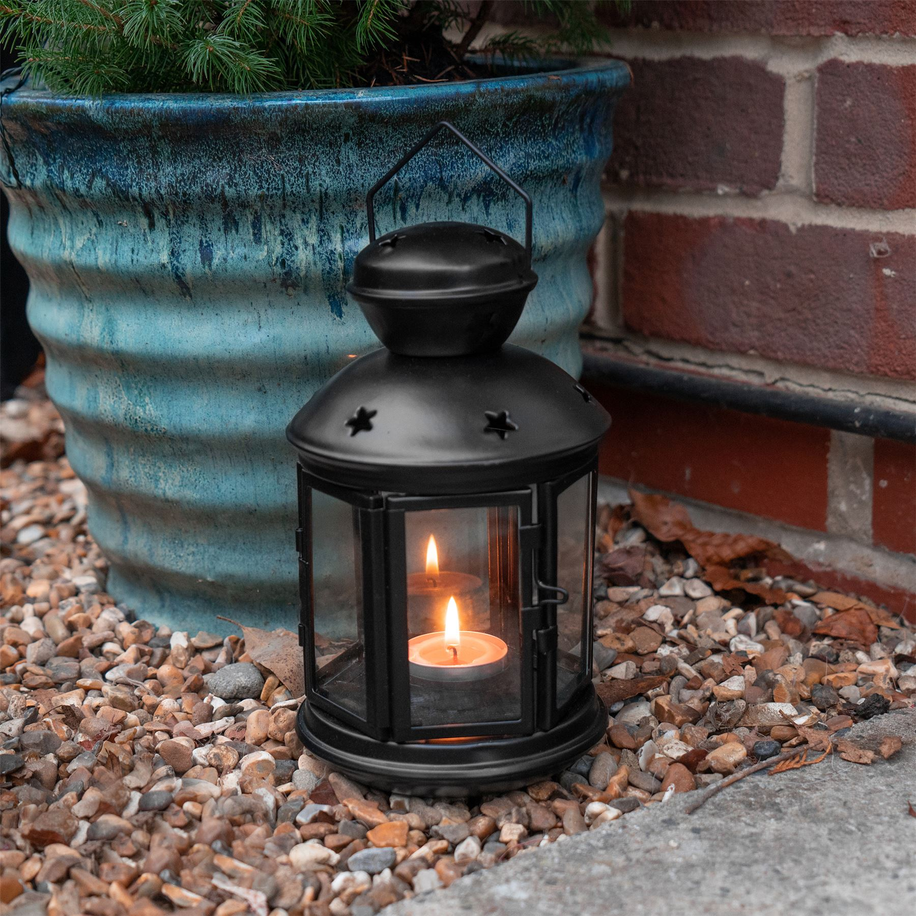 Metal-Candle-Lanterns-Tealight-Holders-Vintage-French-Moroccan-Style-20cm-x2 thumbnail 4