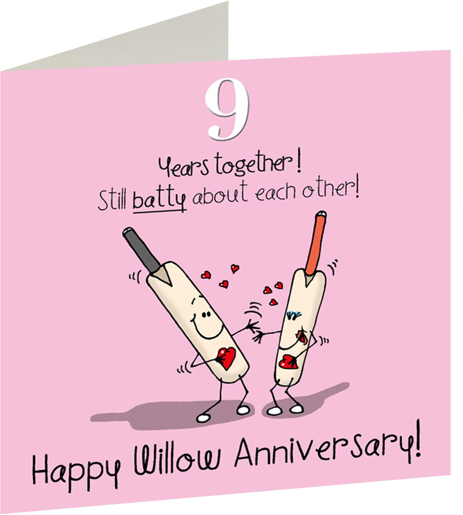 9th Anniversary Greetings Card Happy Willow Anniversary