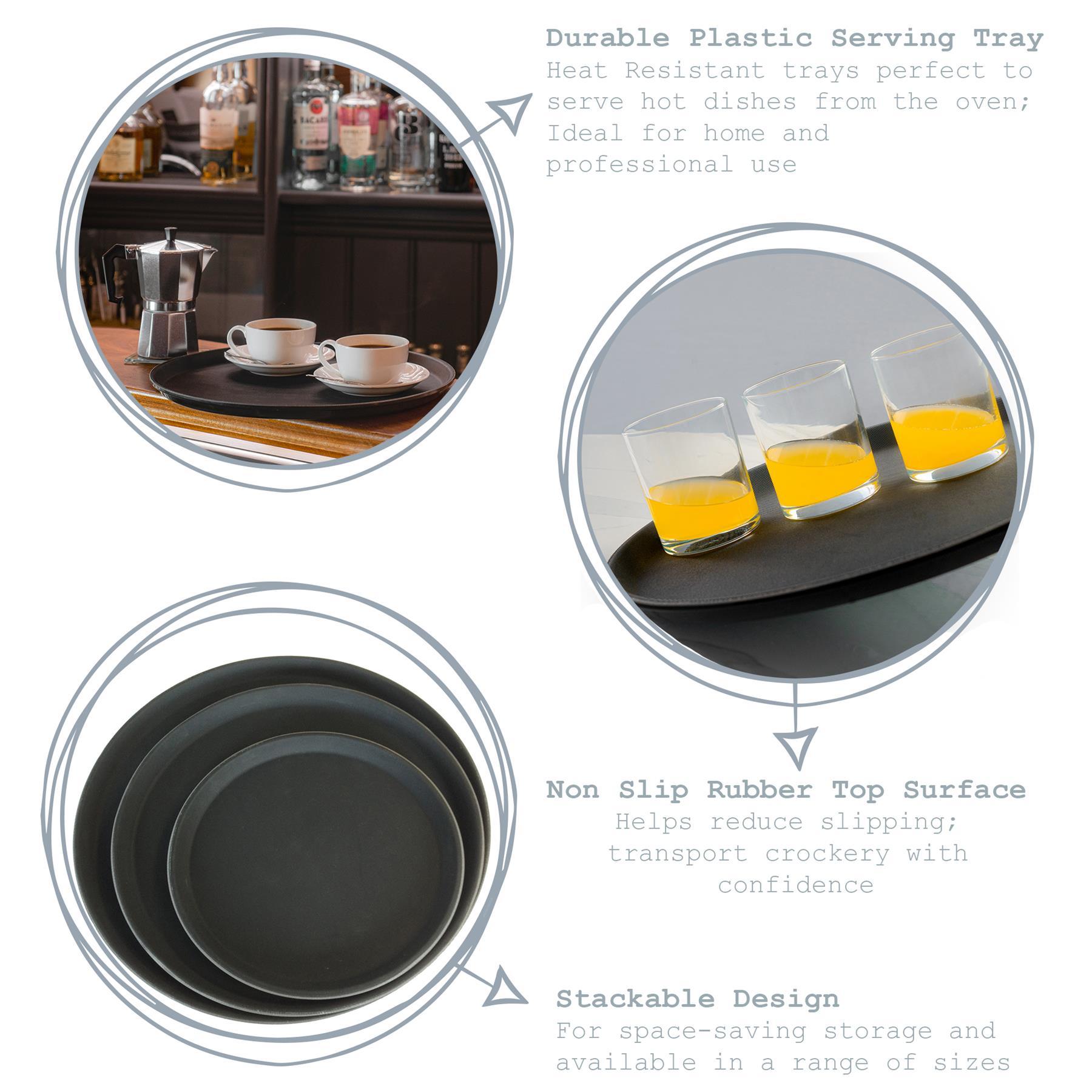 Schwarz Argon Tableware Serviertablett rutschfest 28 cm