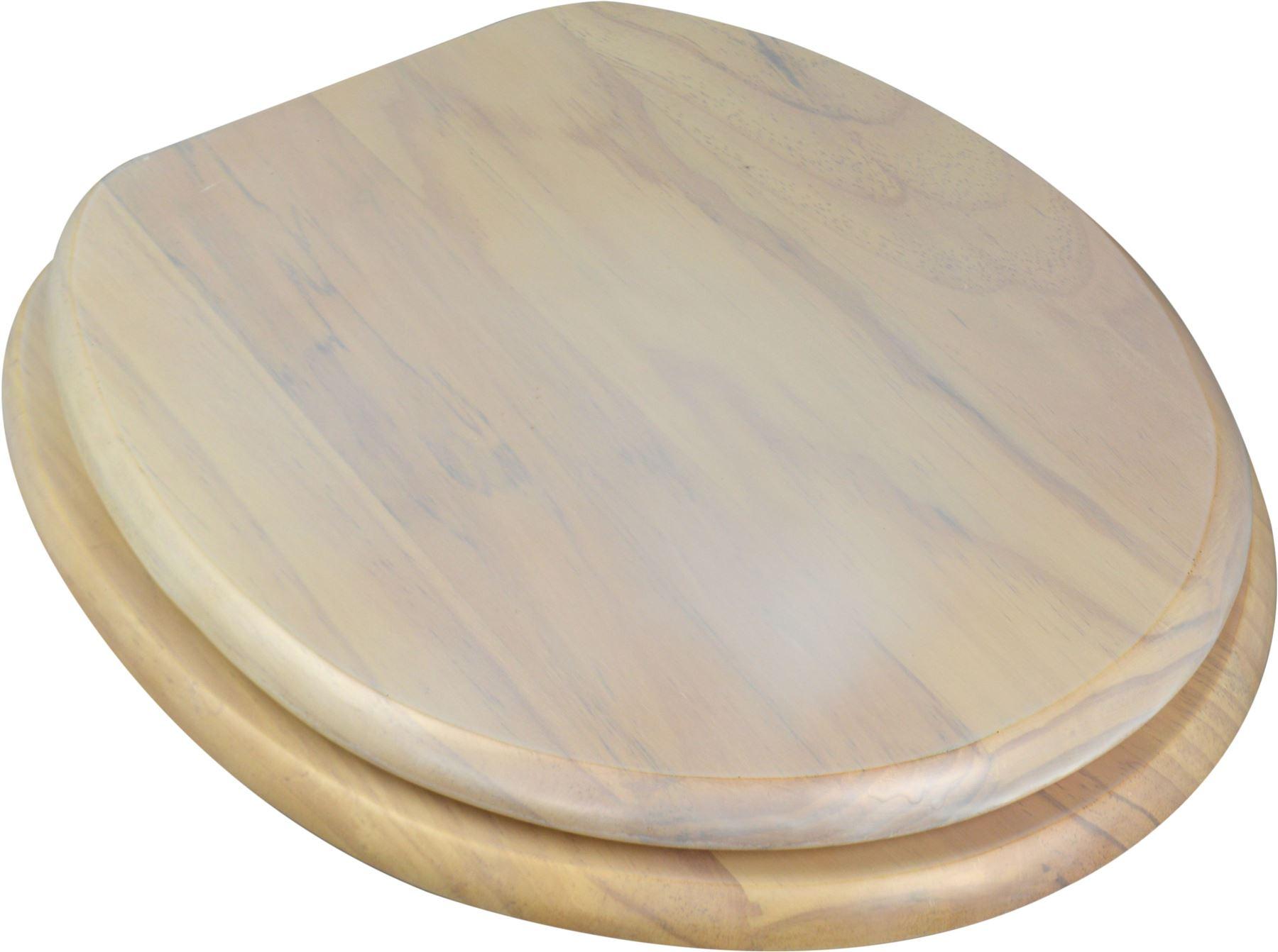 Wooden Bathroom Toilet Seat Light White Pine Fixings Included EBay