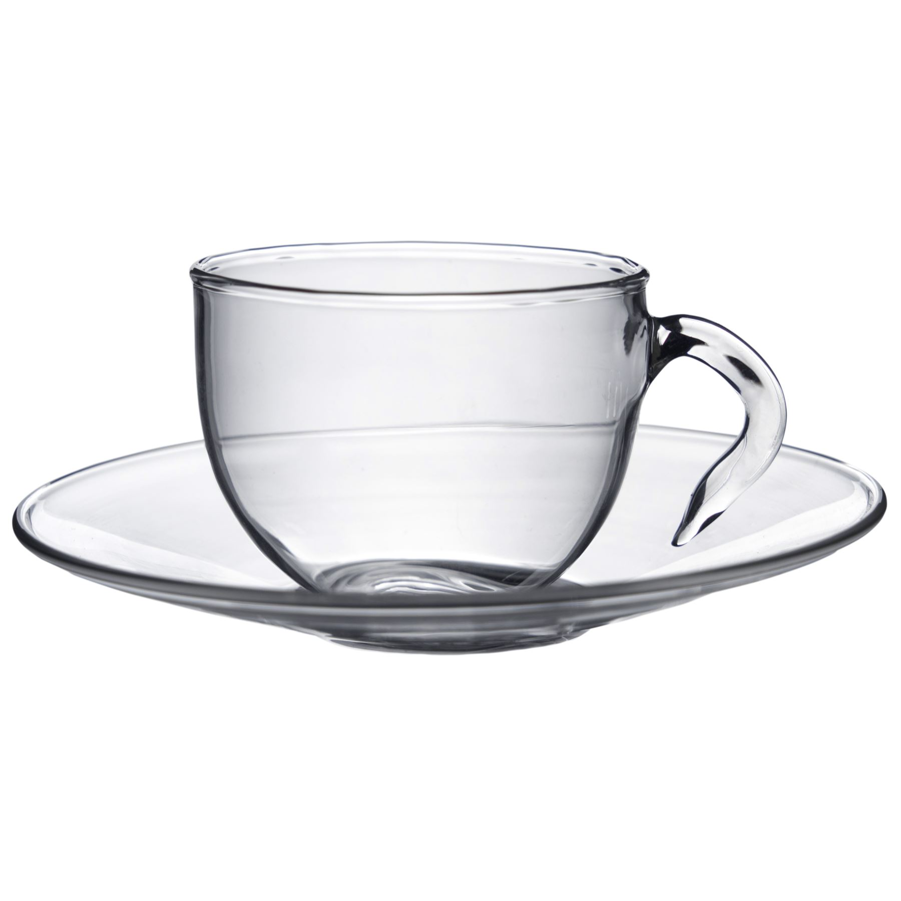 Glass Espresso Coffee Cups Cup & Saucer Serving Set - 60ml ...