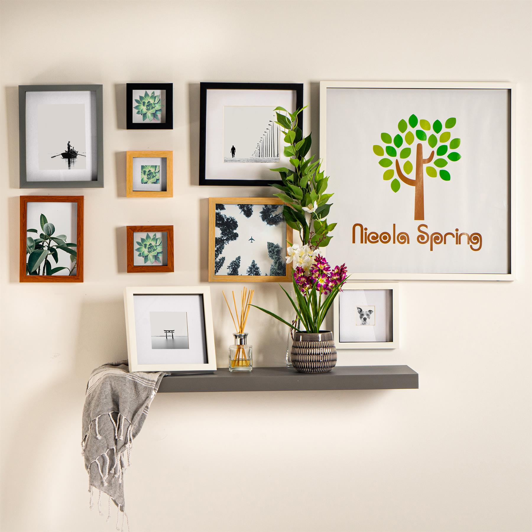 miniature 22 - 4 x 4 3D Box Frame Photo Picture Deep Display Shadow with 2 x 2 Mount