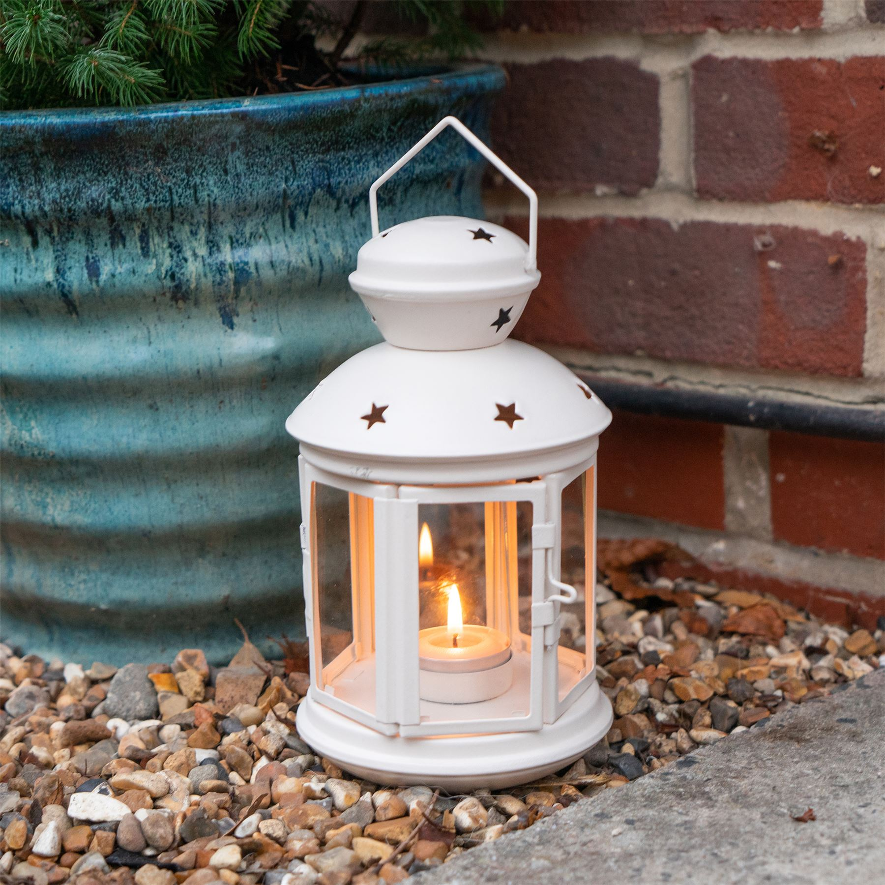 Metal-Candle-Lanterns-Tealight-Holders-Vintage-French-Moroccan-Style-20cm-x2 thumbnail 15