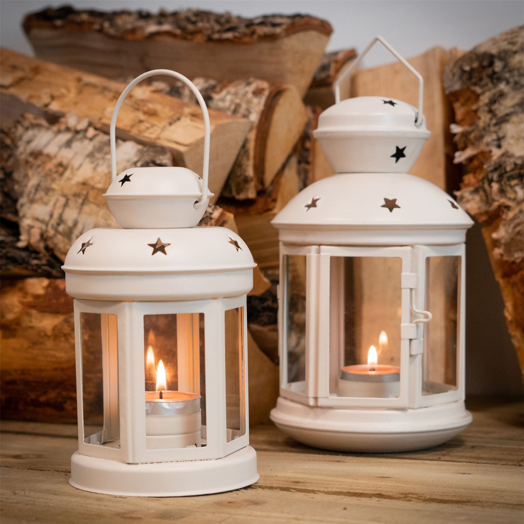 Metal-Candle-Lanterns-Tealight-Holders-Vintage-French-Moroccan-Style-20cm-x2 thumbnail 13