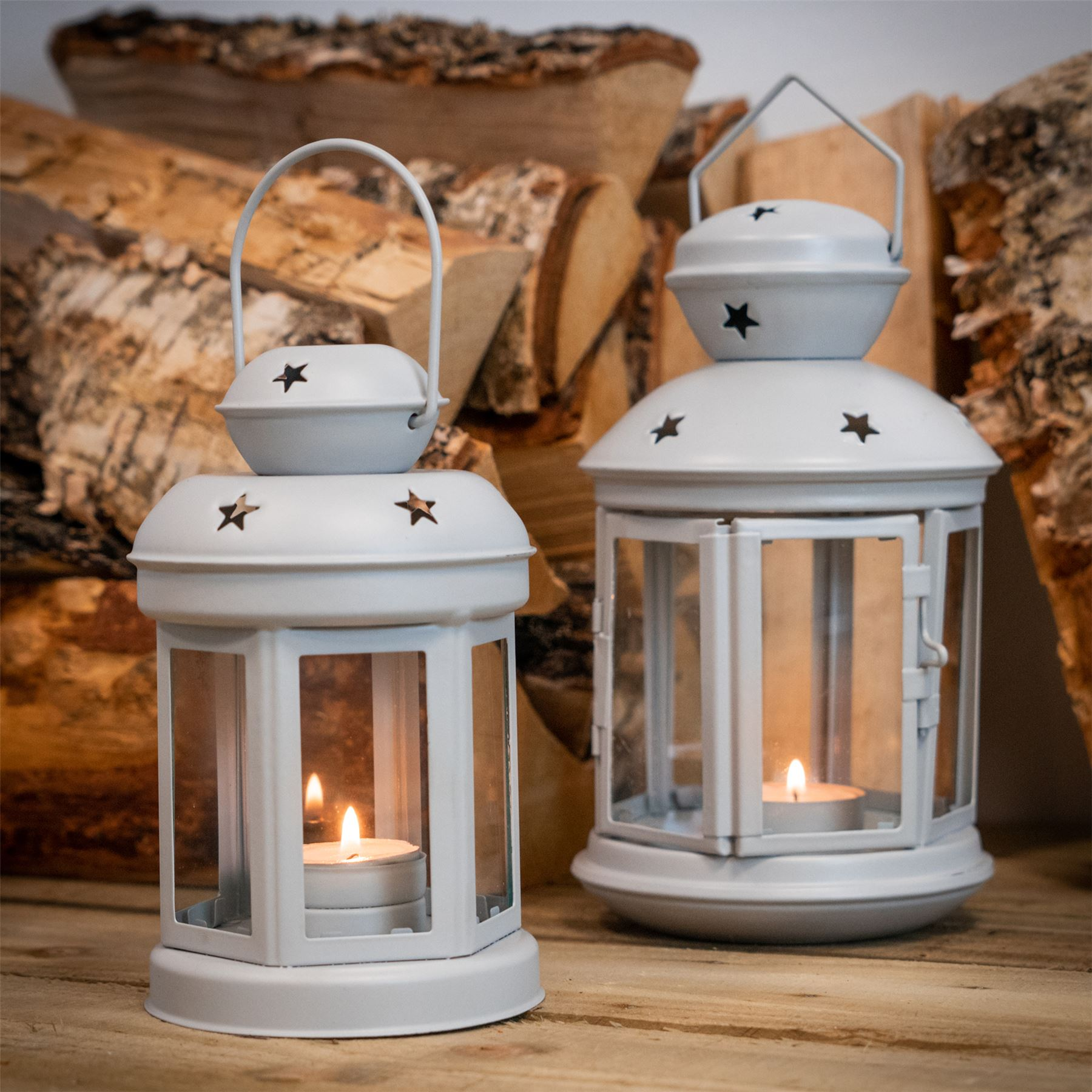 Metal-Candle-Lanterns-Tealight-Holders-Vintage-French-Moroccan-Style-20cm-x2 thumbnail 19