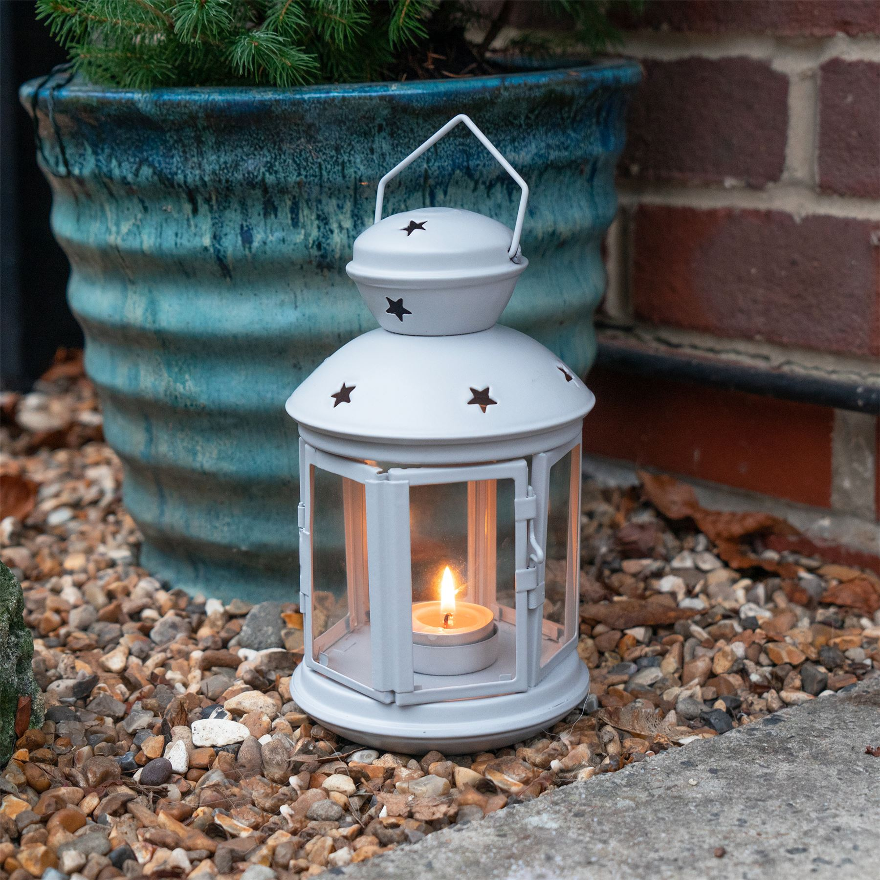 Metal-Candle-Lanterns-Tealight-Holders-Vintage-French-Moroccan-Style-20cm-x2 thumbnail 20