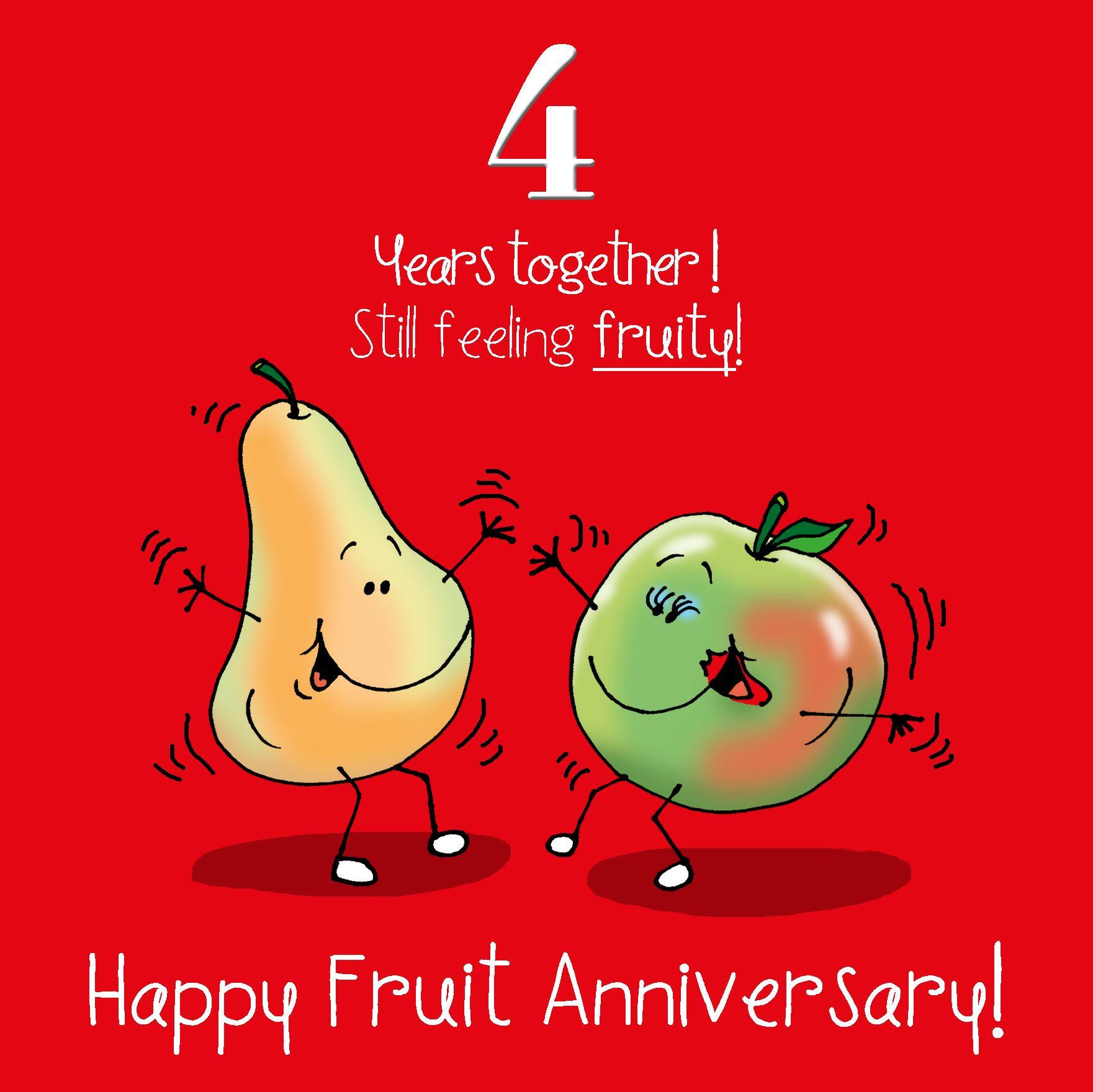 4th Anniversary Greetings Card